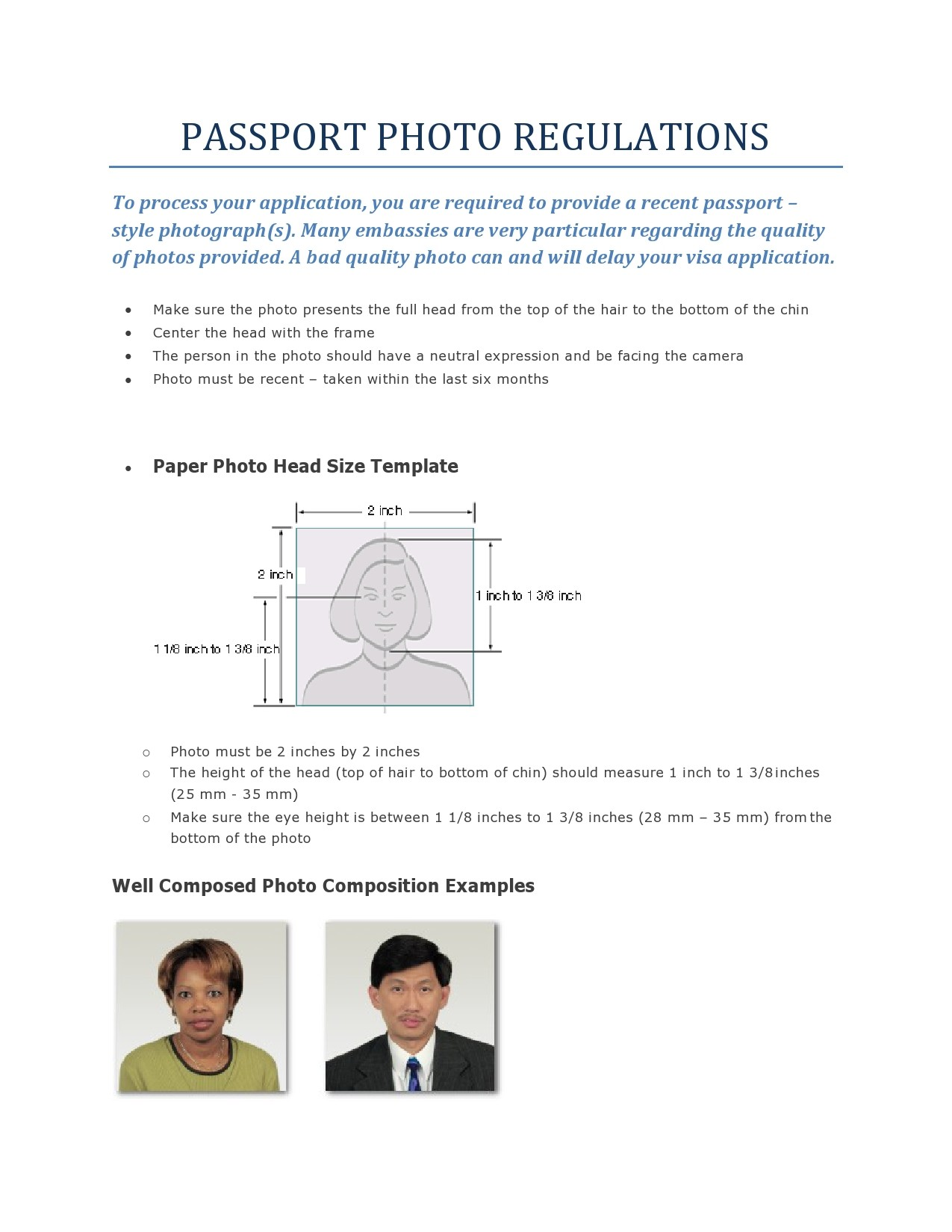 Free passport photo template 11