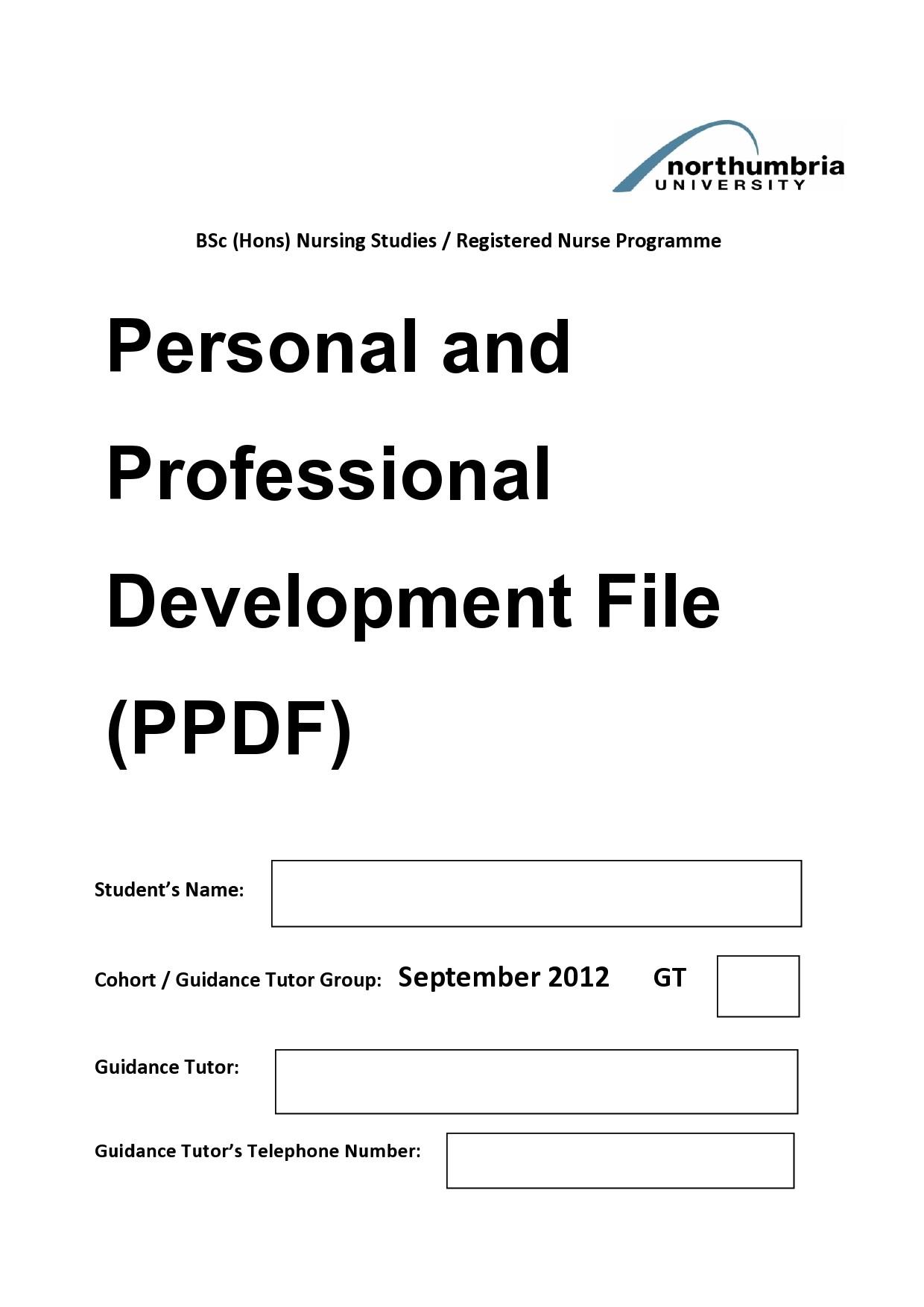 Free professional development plan 01