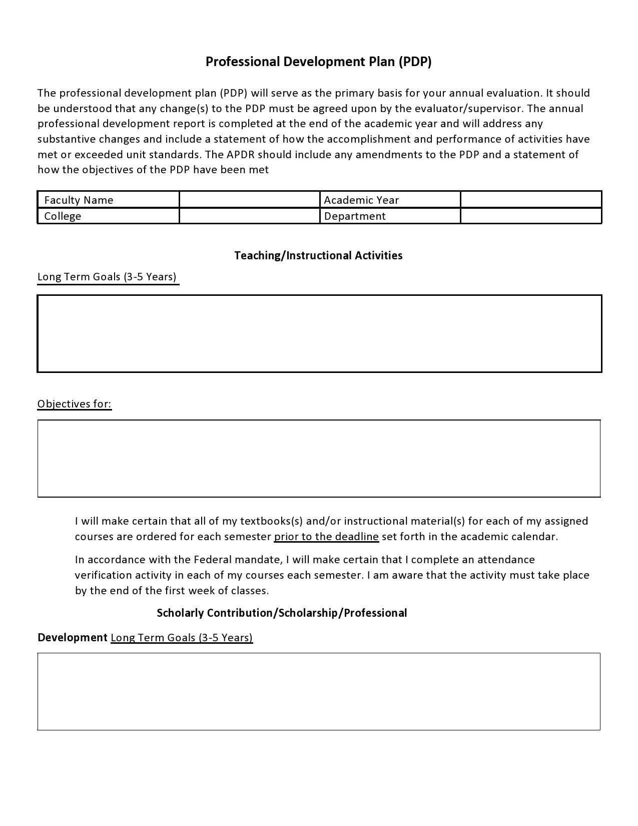 Free professional development plan 03