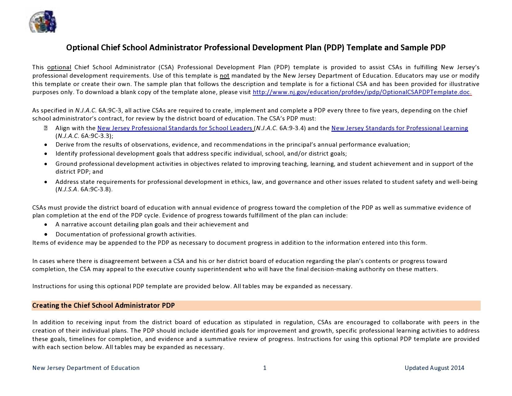 Free professional development plan 07