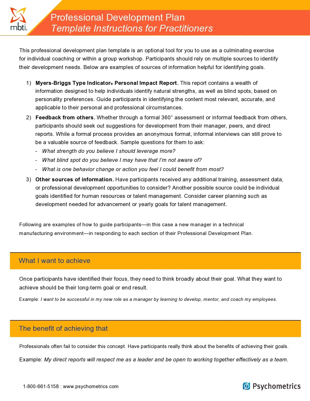 Free professional development plan 11