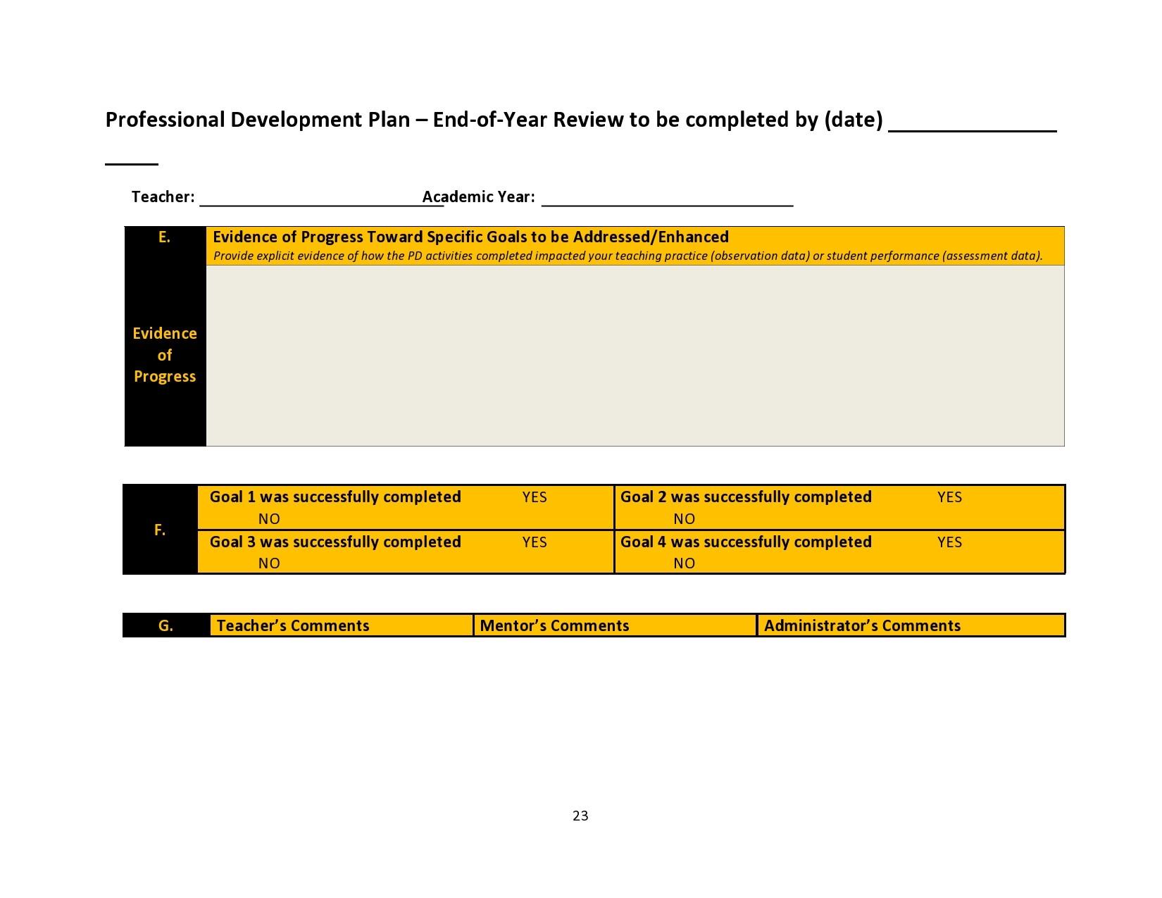 Free professional development plan 14