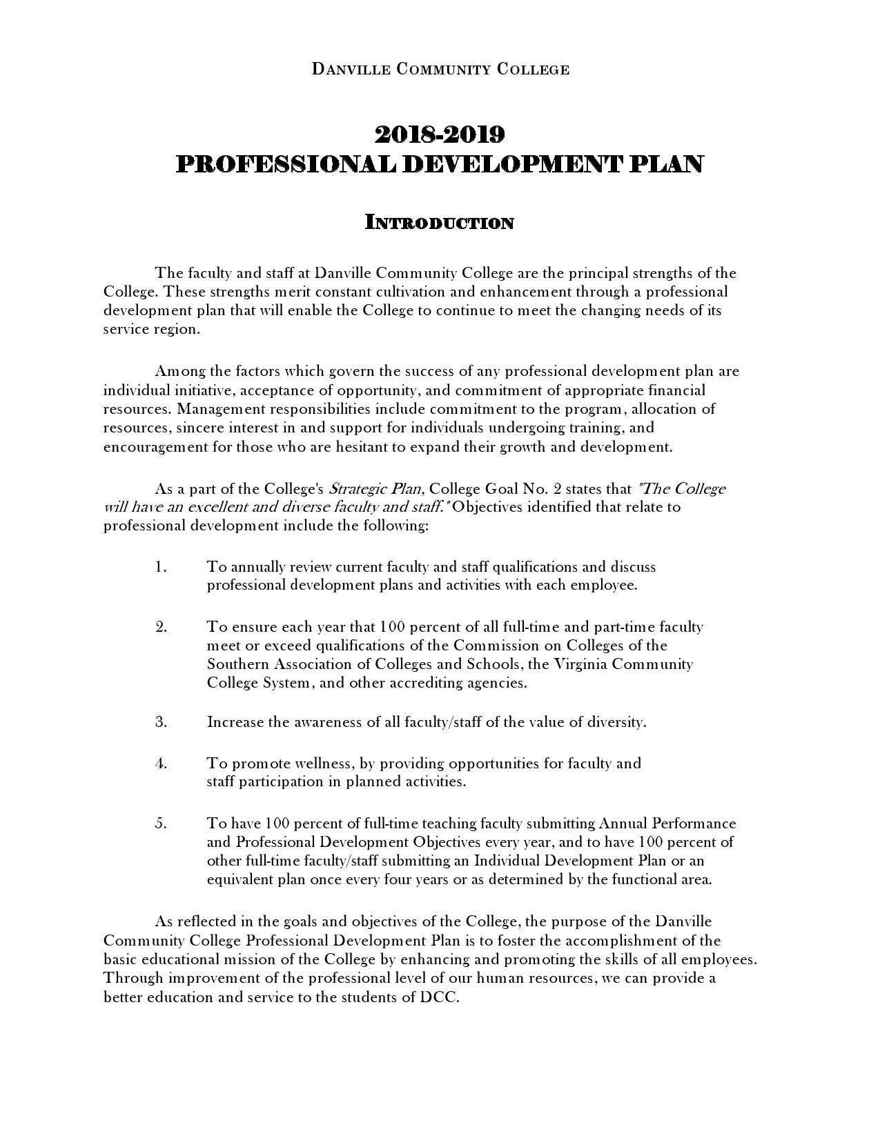 Free professional development plan 19