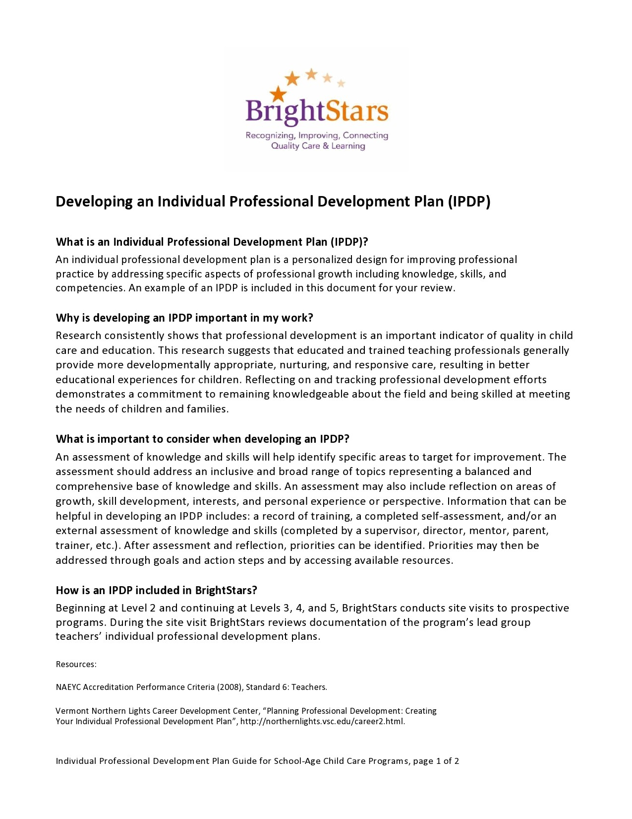 Free professional development plan 23