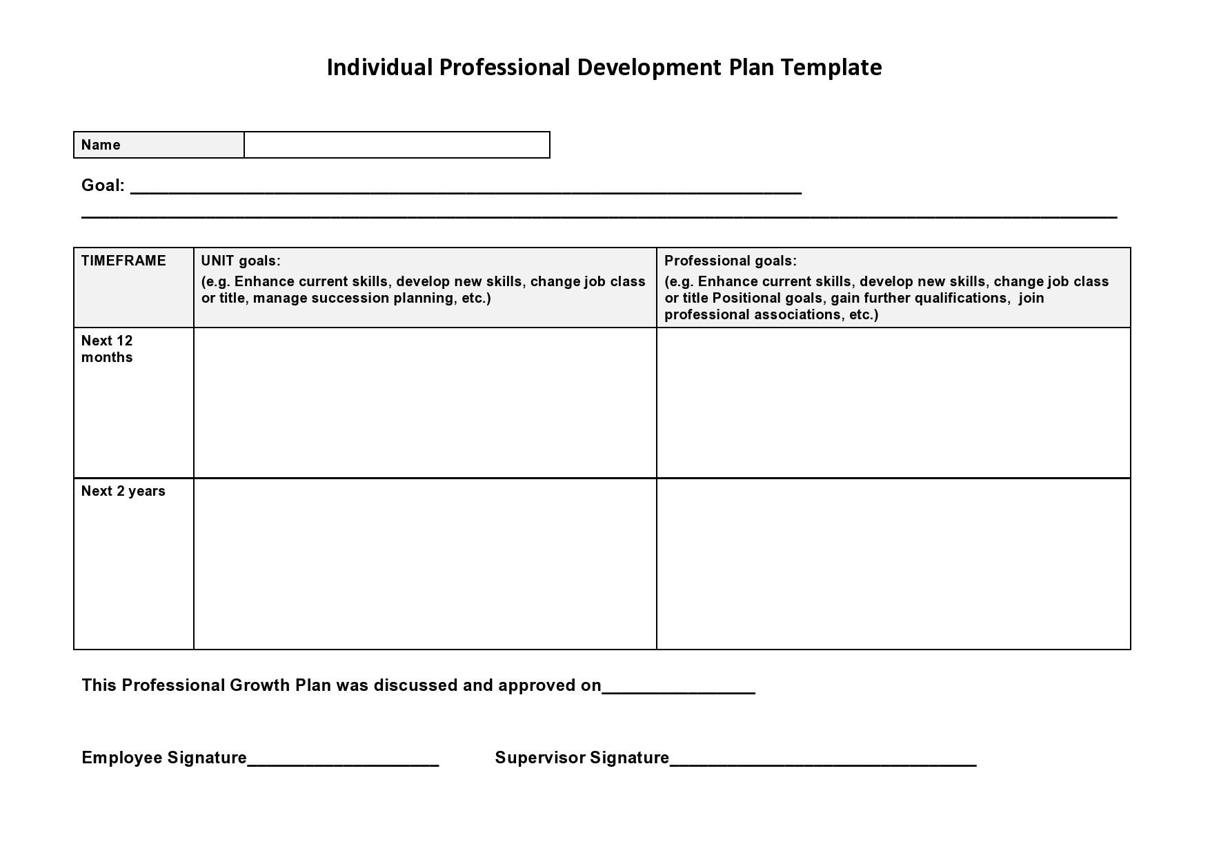Free professional development plan 35