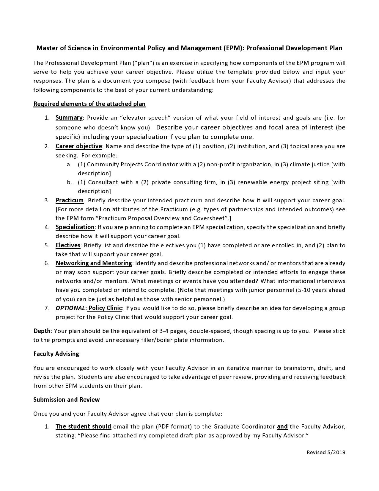 Free professional development plan 45