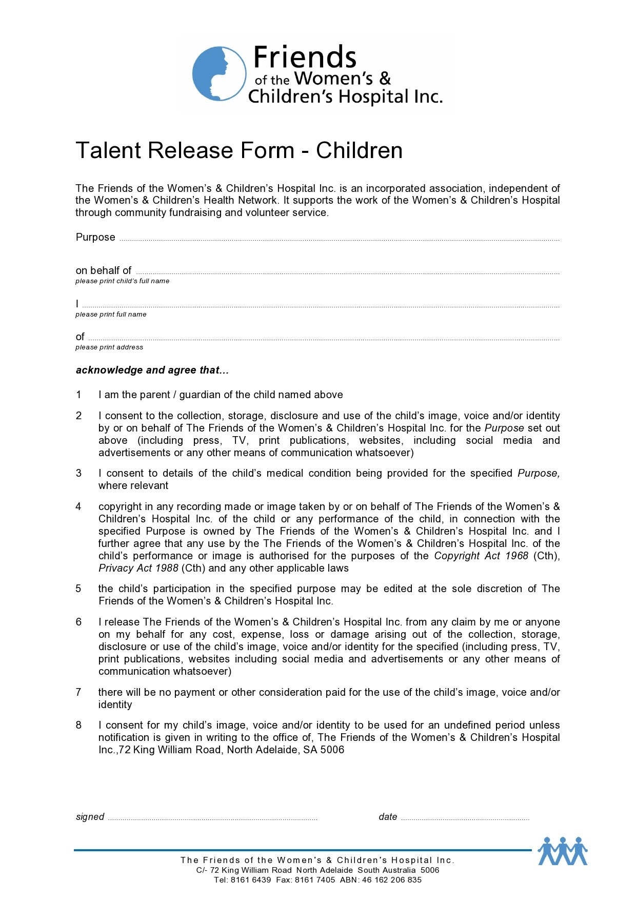 Free talent release form 06