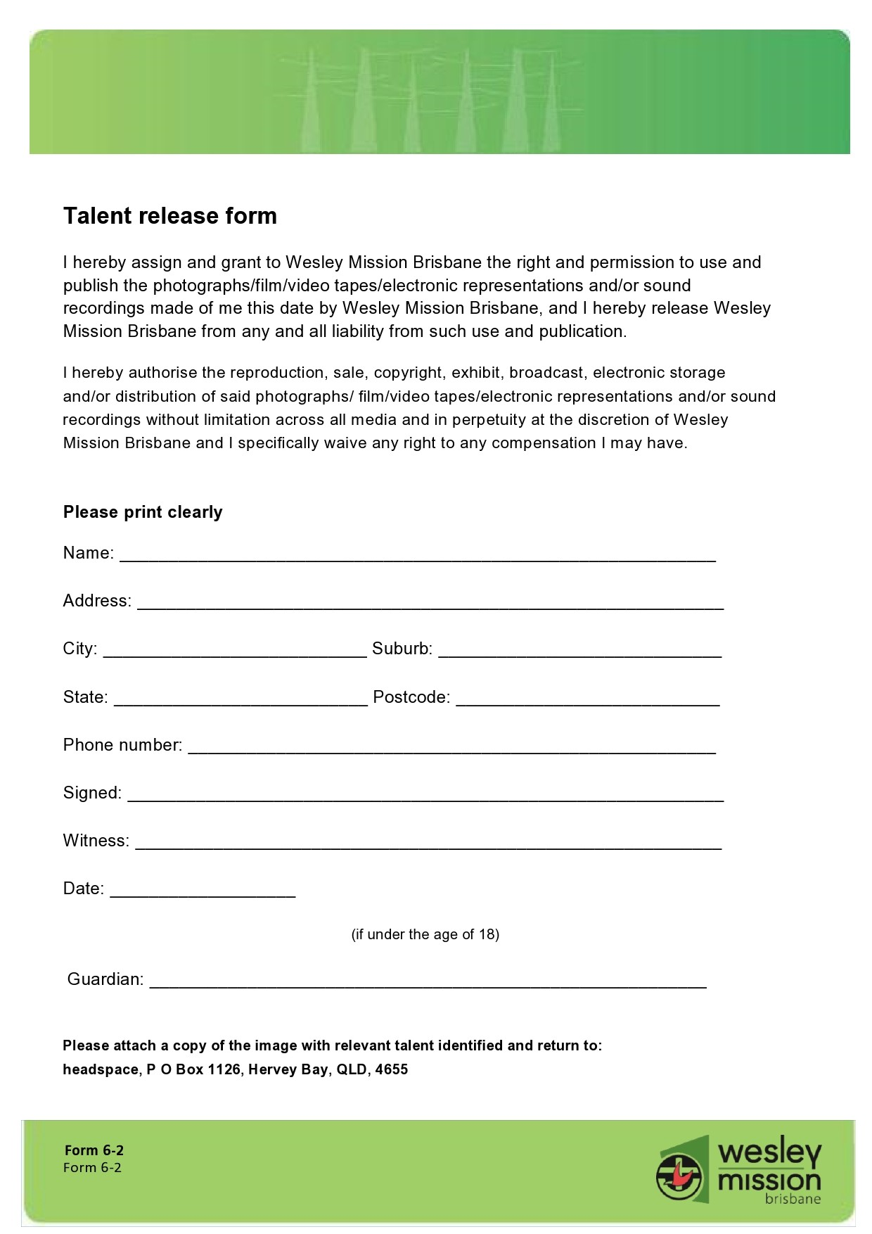 Free talent release form 32