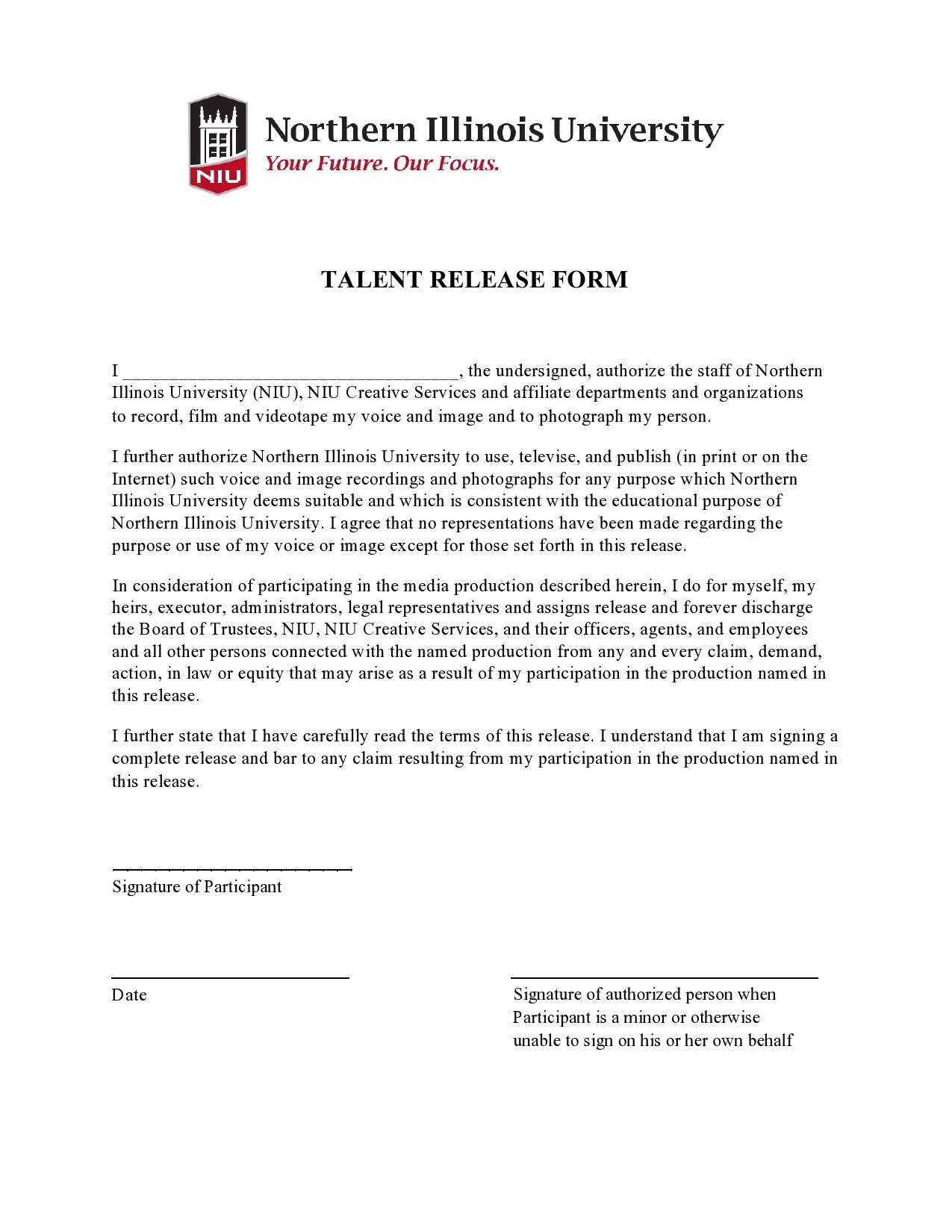 Free talent release form 41