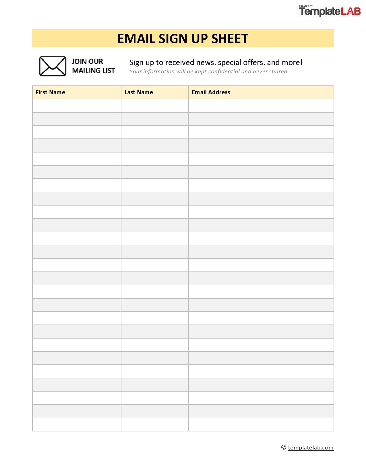 Microsoft Sign Up Sheet Template from templatelab.com