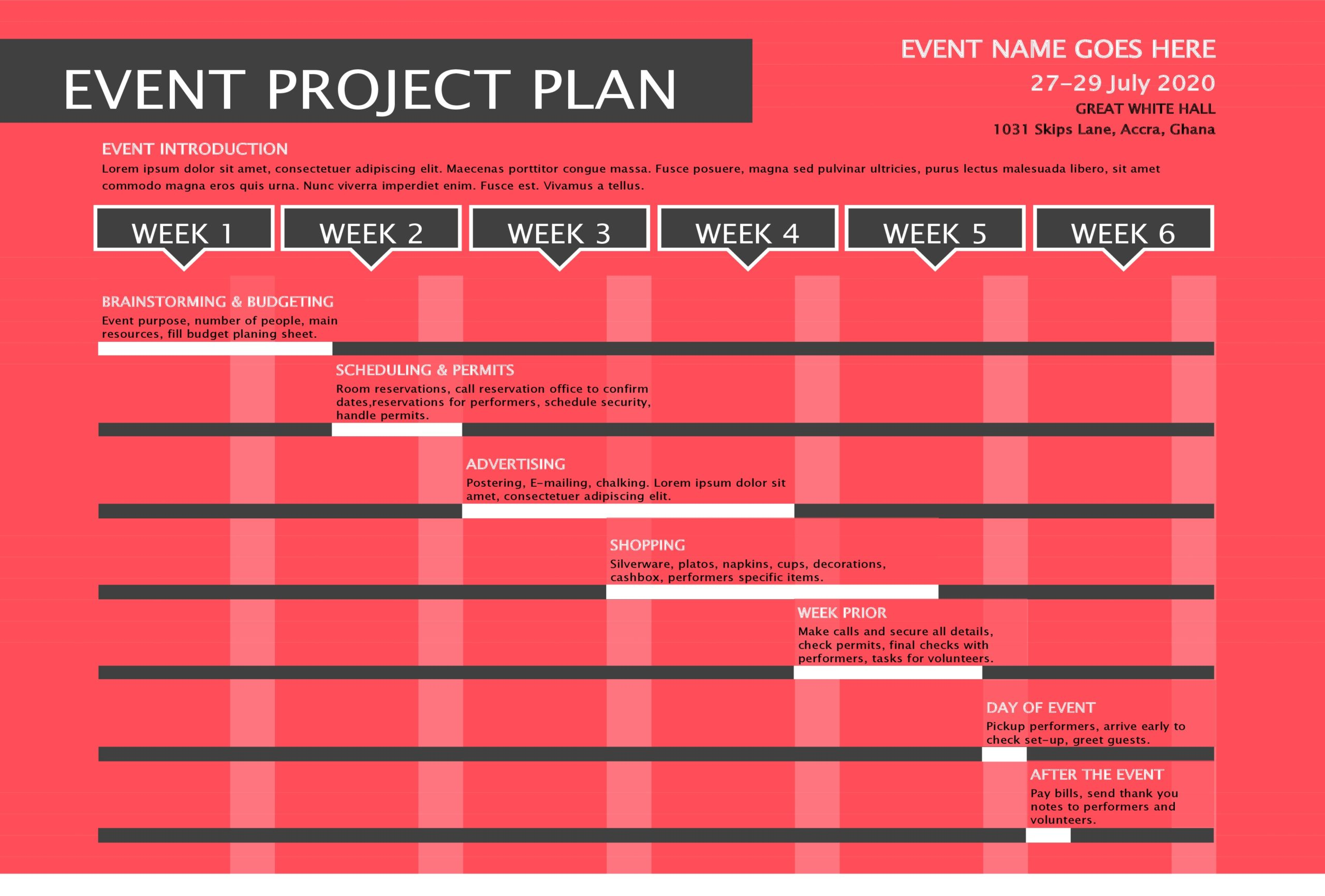 Free Event Project Plan Template - TemplateLab.com