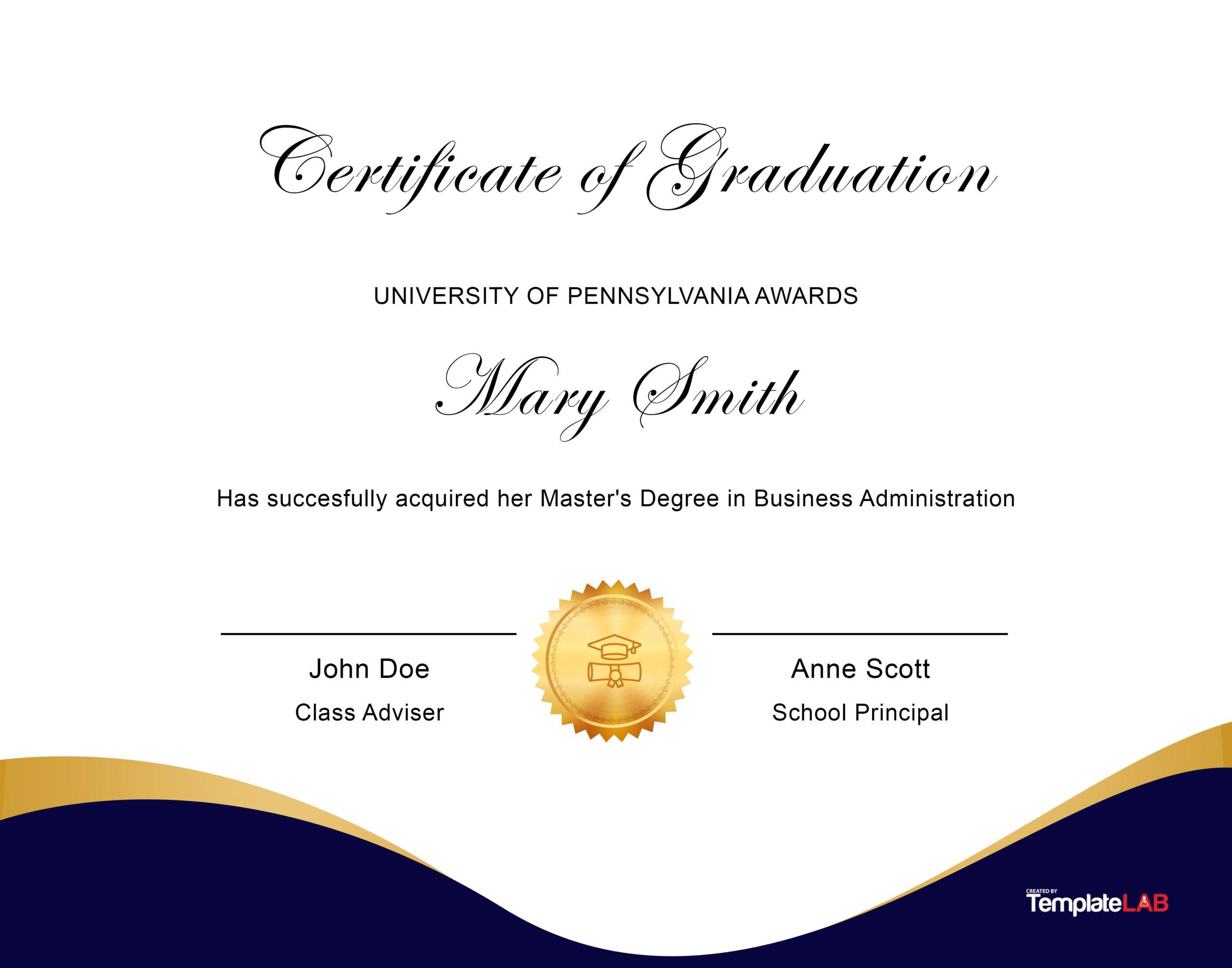 Free Diploma Template 11 - TemplateLab.com