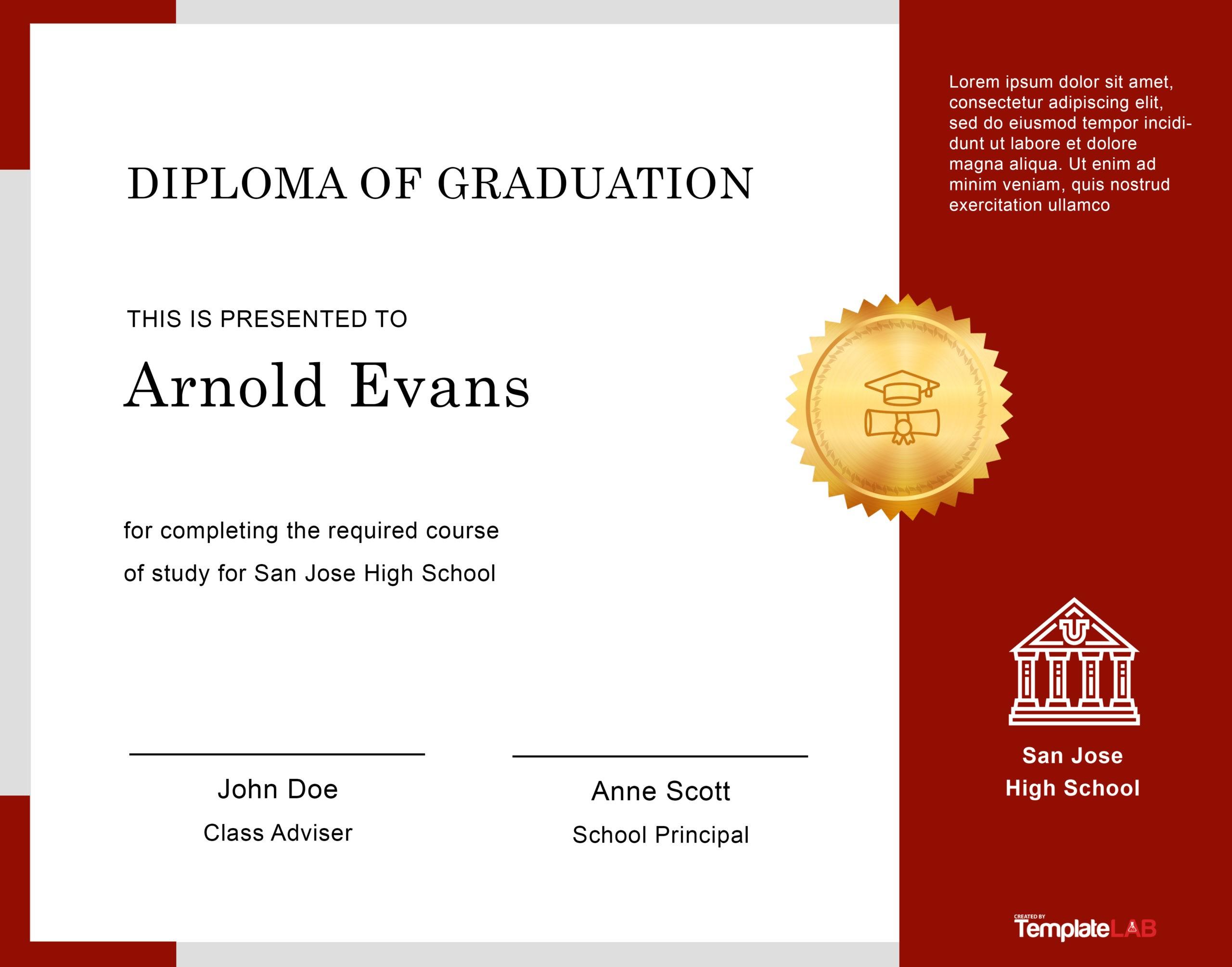Free Diploma Template 15 - TemplateLab.com