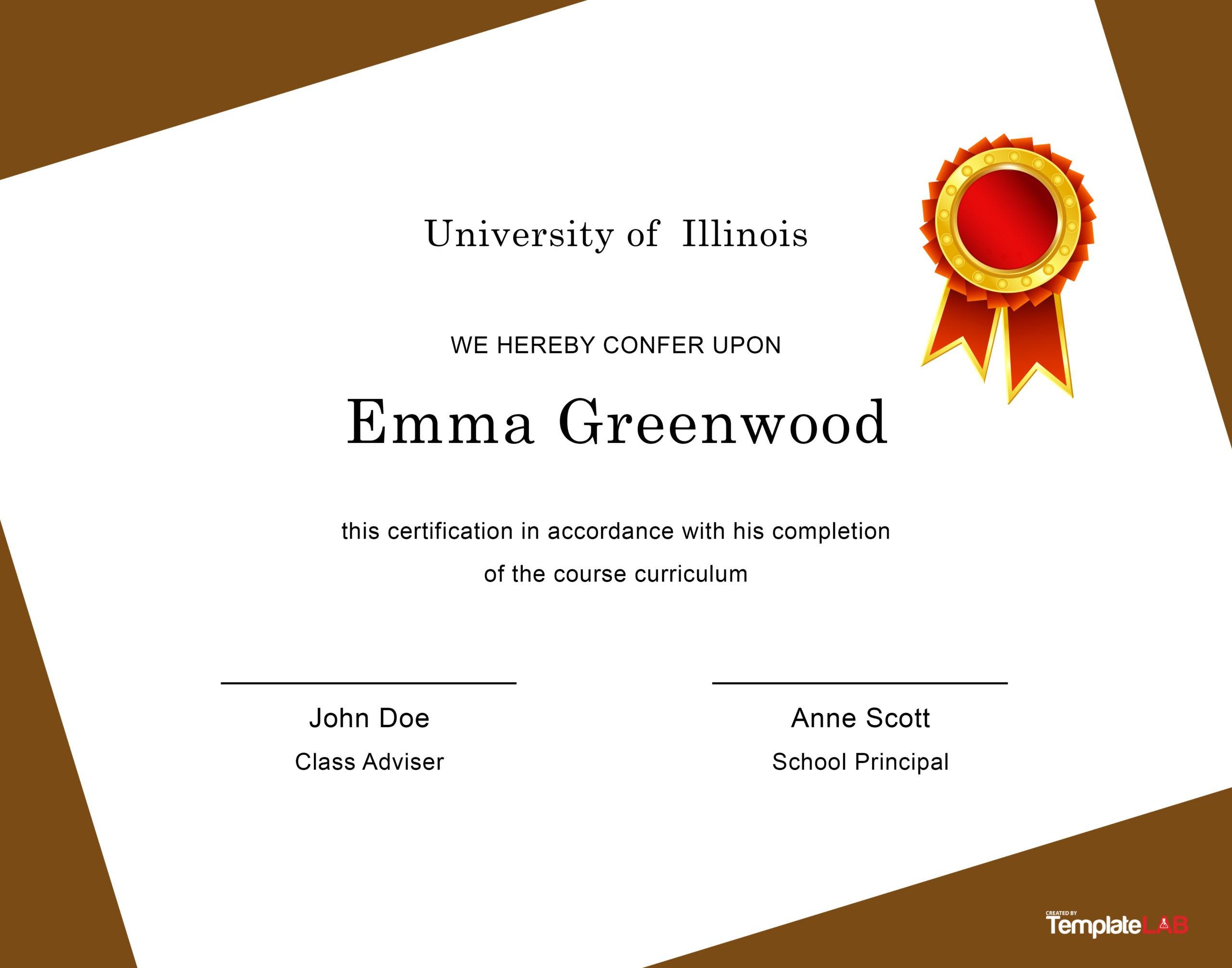 Free Diploma Template 4 - TemplateLab.com