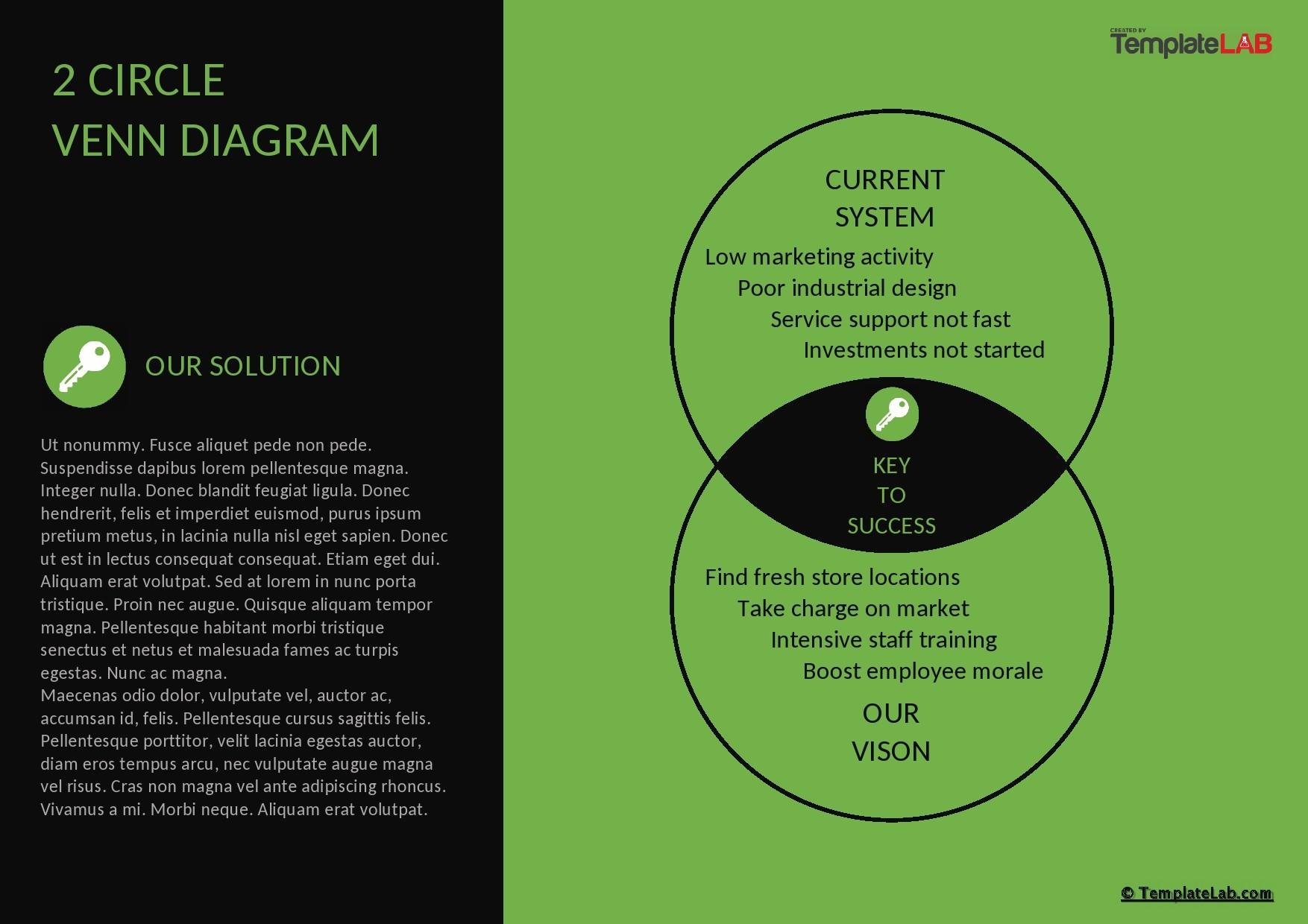 Free 2 Circle Venn Diagram Template 02 - TemplateLab.com