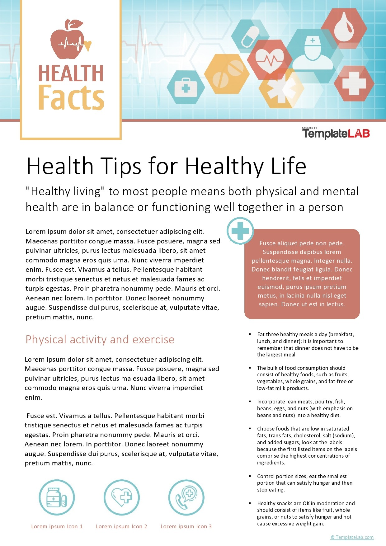 Free Health Fact Sheet Template - TemplateLab.com