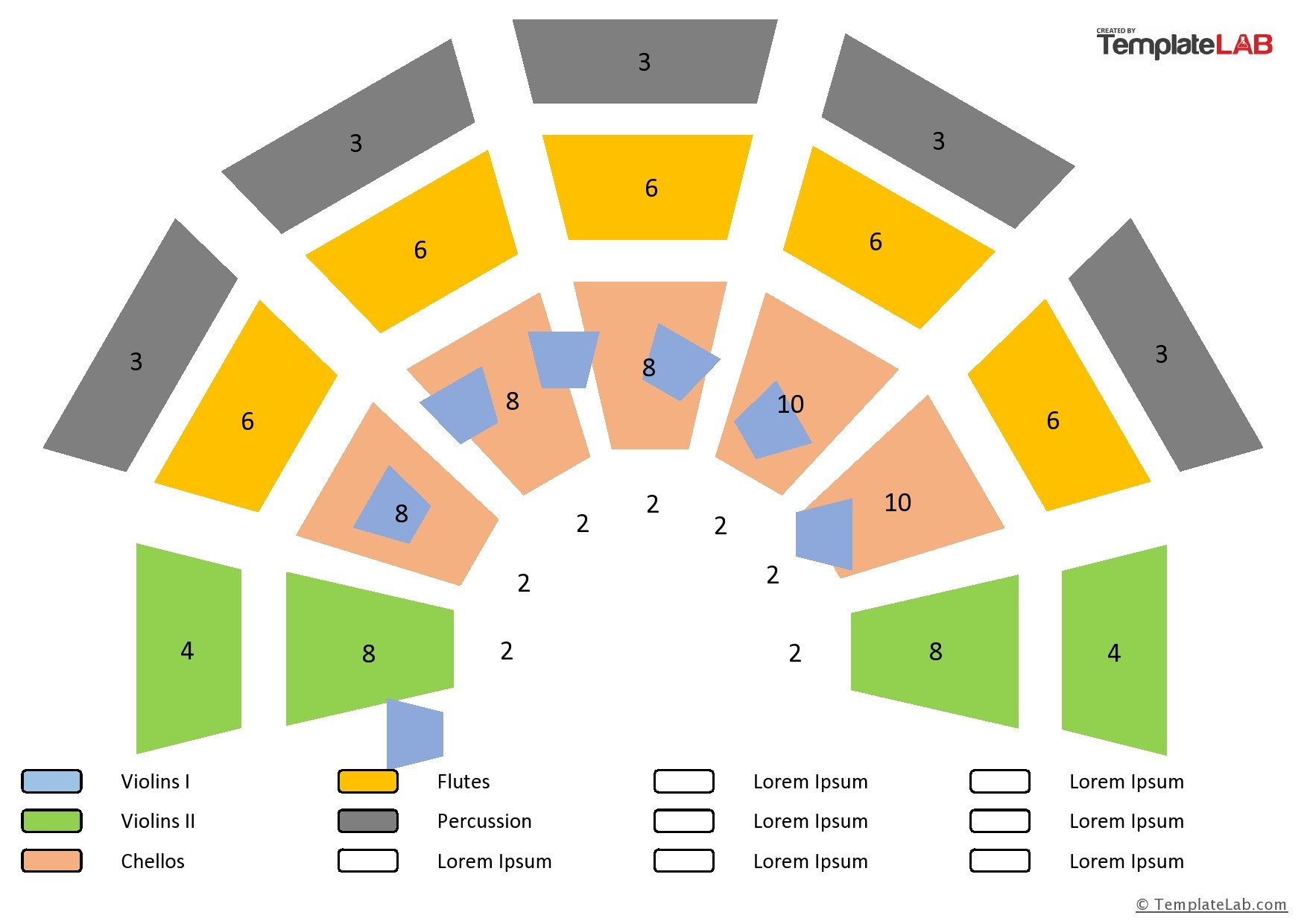 Free Orchestra Seating Chart Template - TemplateLab.com