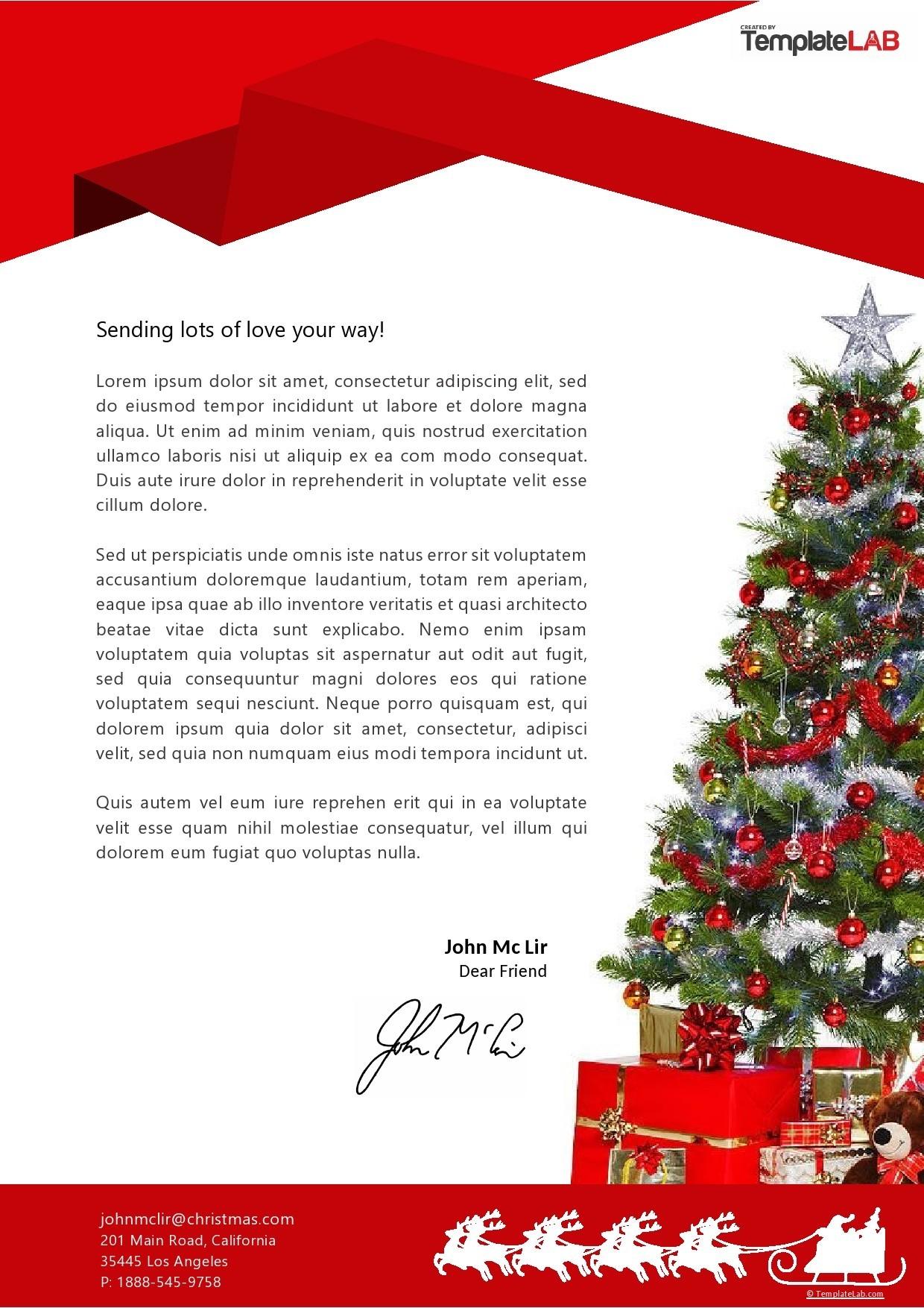 Free Christmas Letterhead Template - TemplateLab.com
