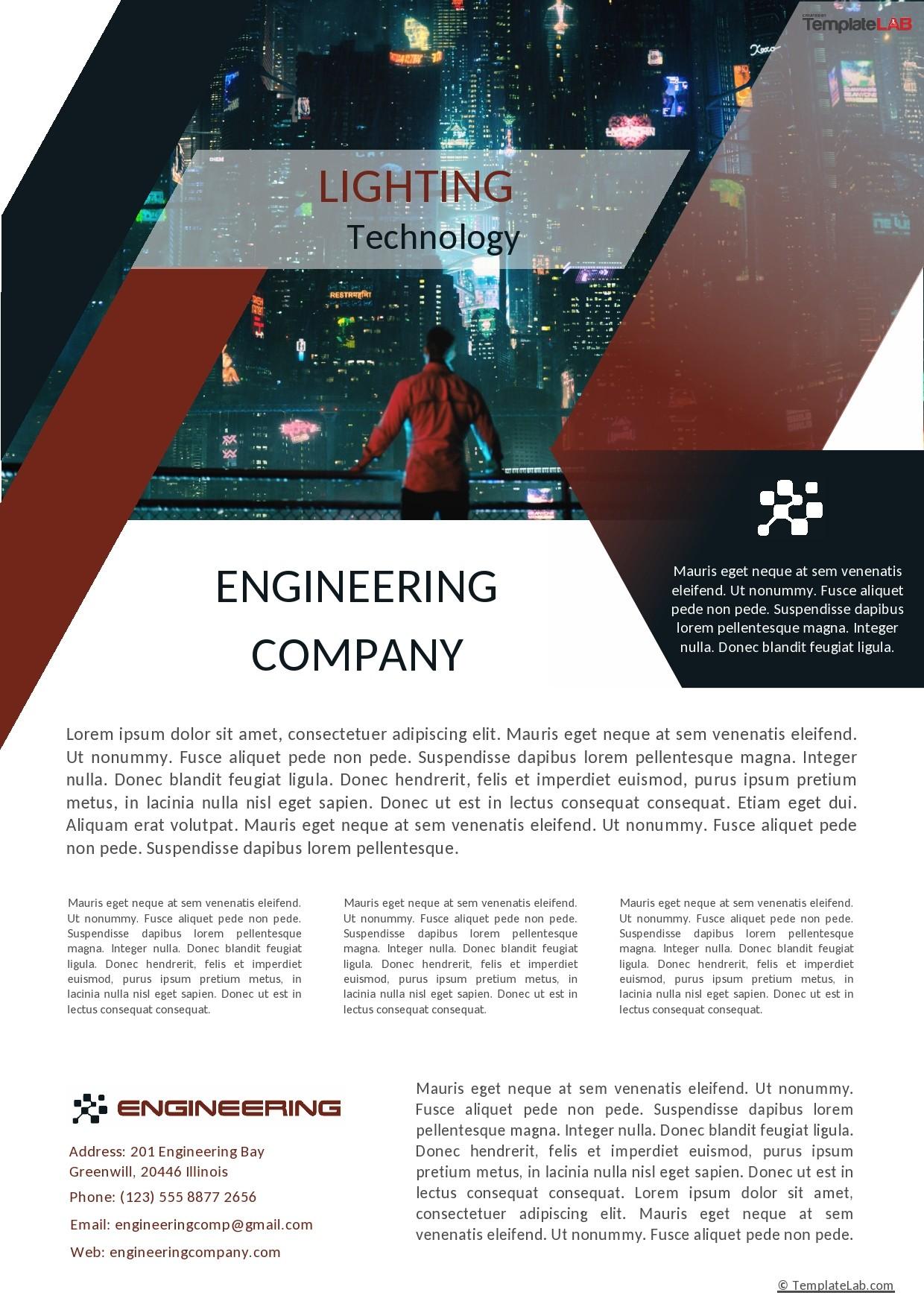 Free Engineering Company Profile Template - TemplateLab.com