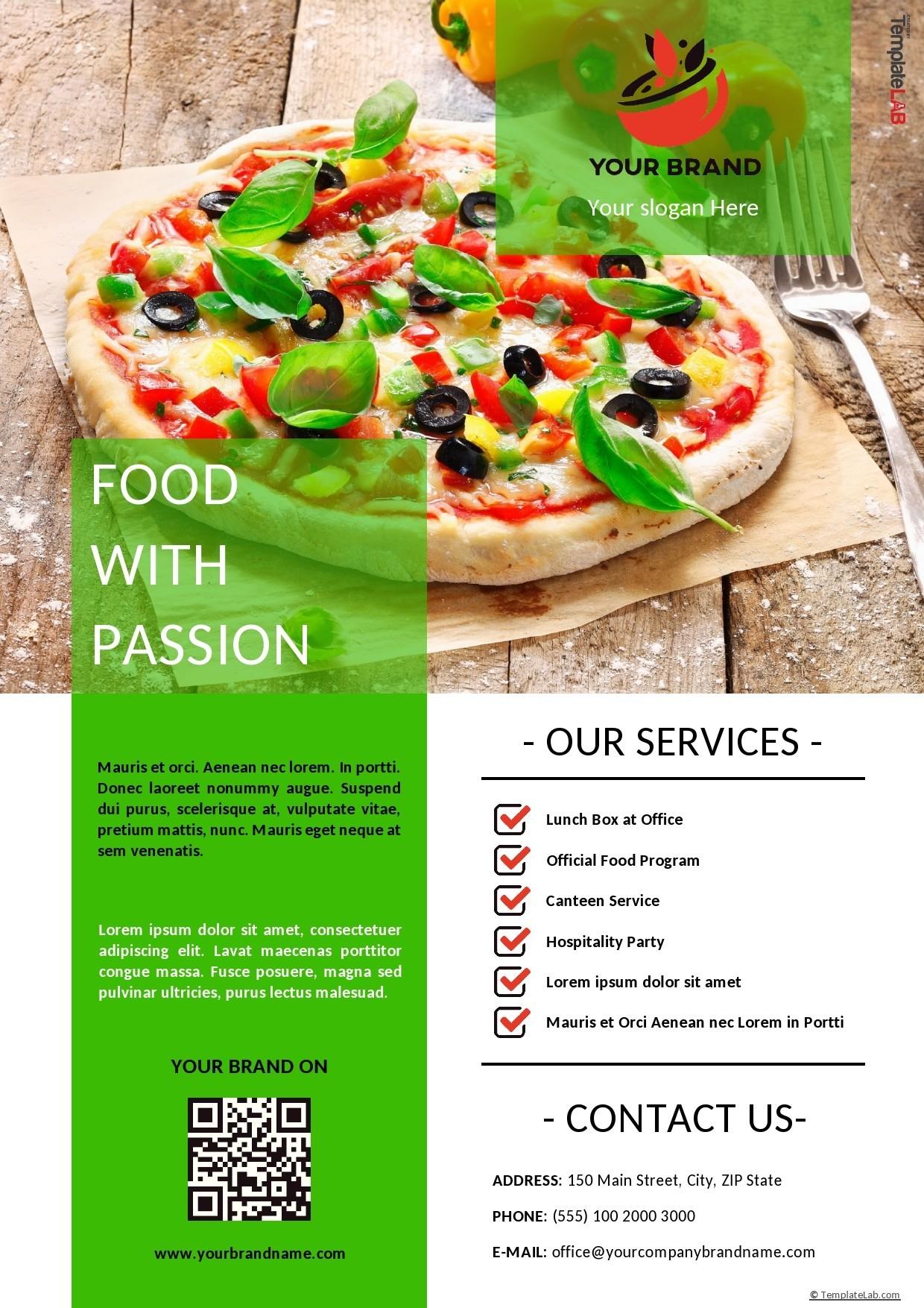 Free Food Company Profile Template - TemplateLab.com