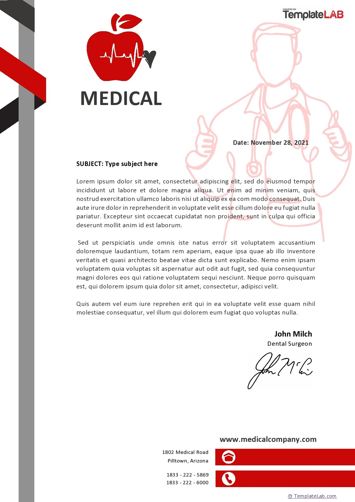 Free Medical Letterhead Template - TemplateLab.com