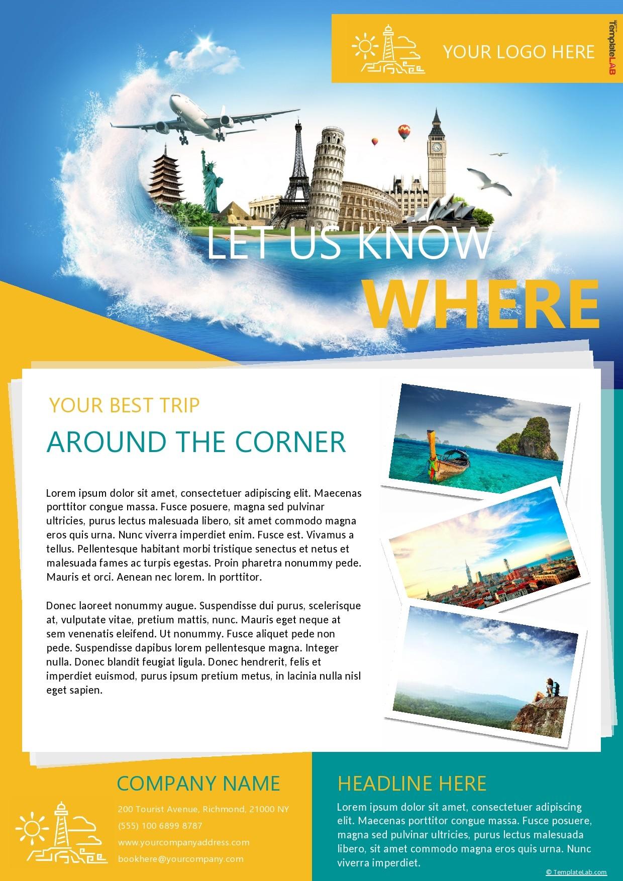 Free Travel Agency Company Profile Template - TemplateLab.com