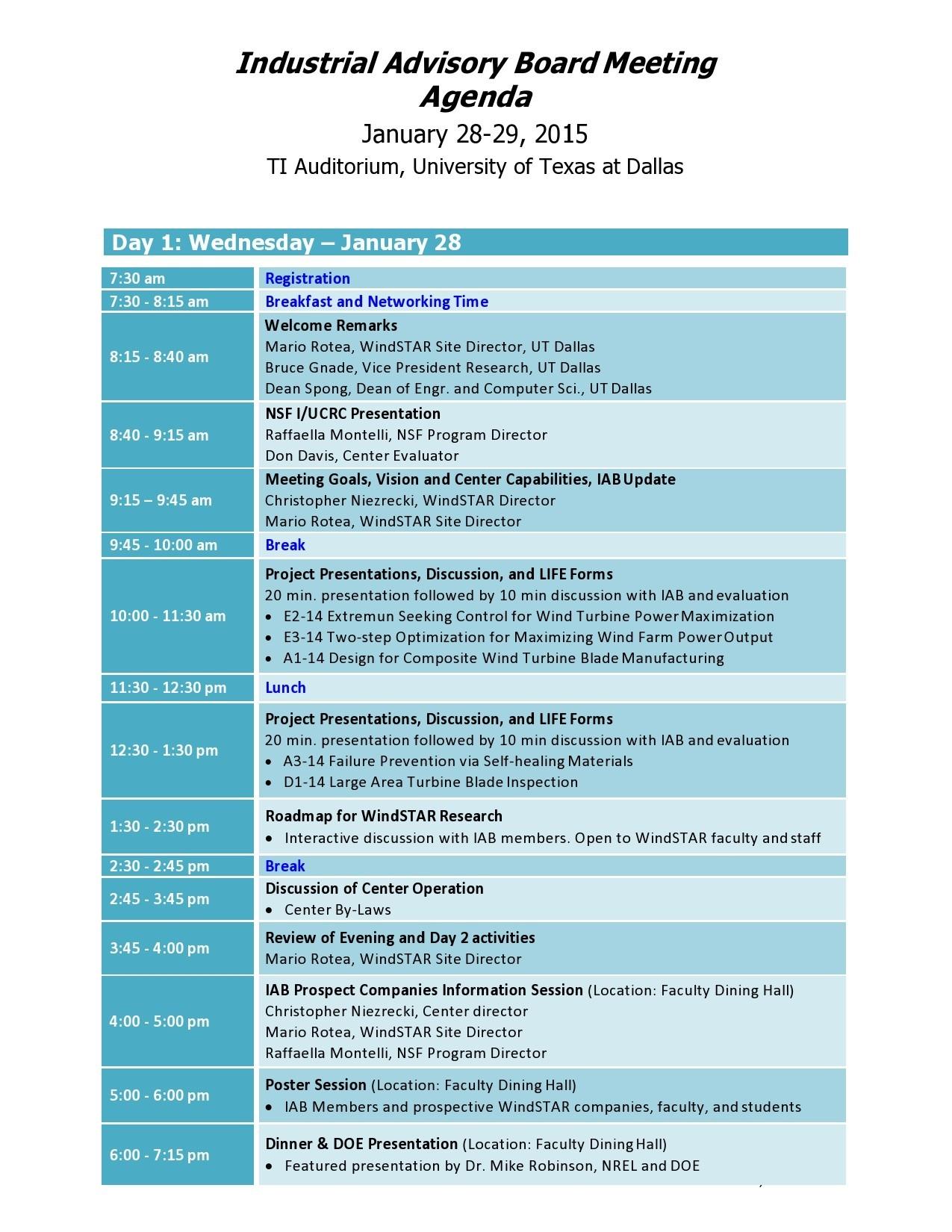Free board meeting agenda 05