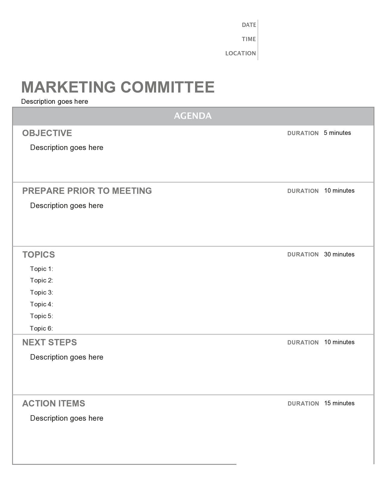 Free board meeting agenda 18
