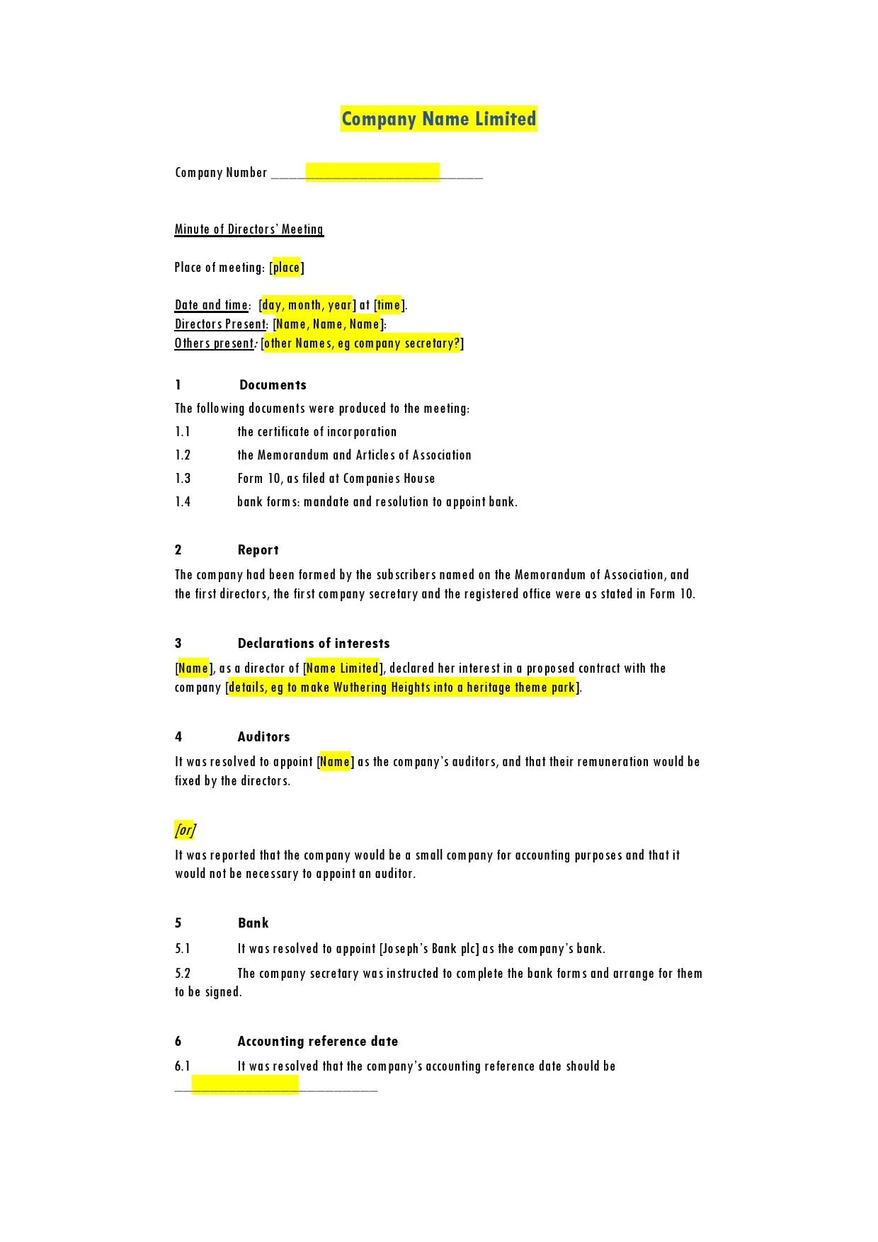 Free board meeting agenda 26