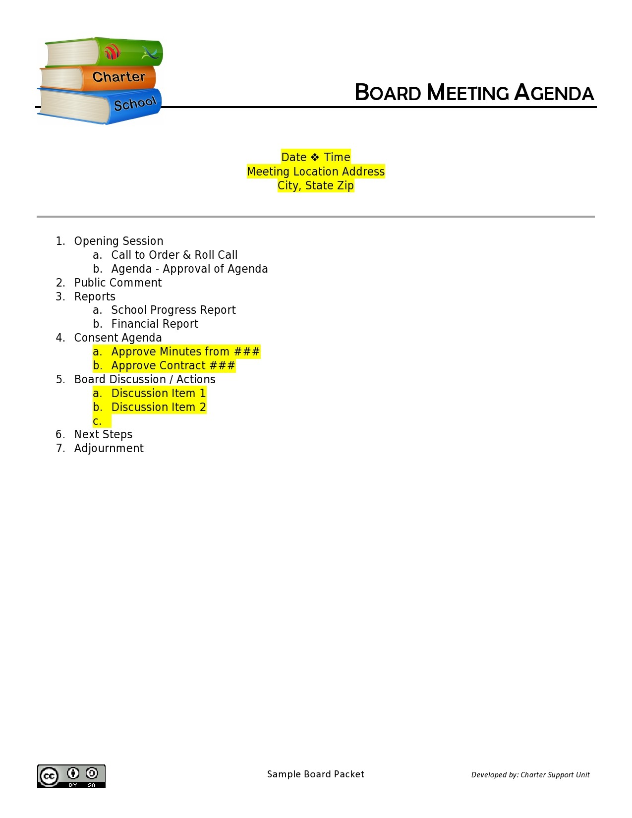 Free board meeting agenda 35