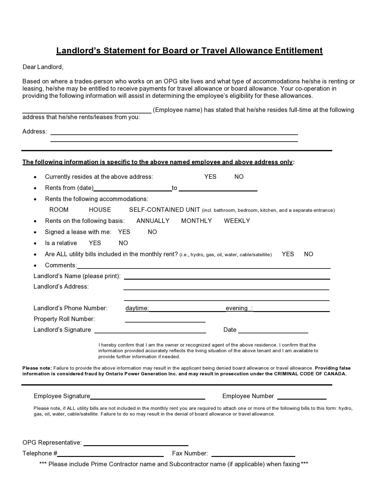Free landlord statment 11