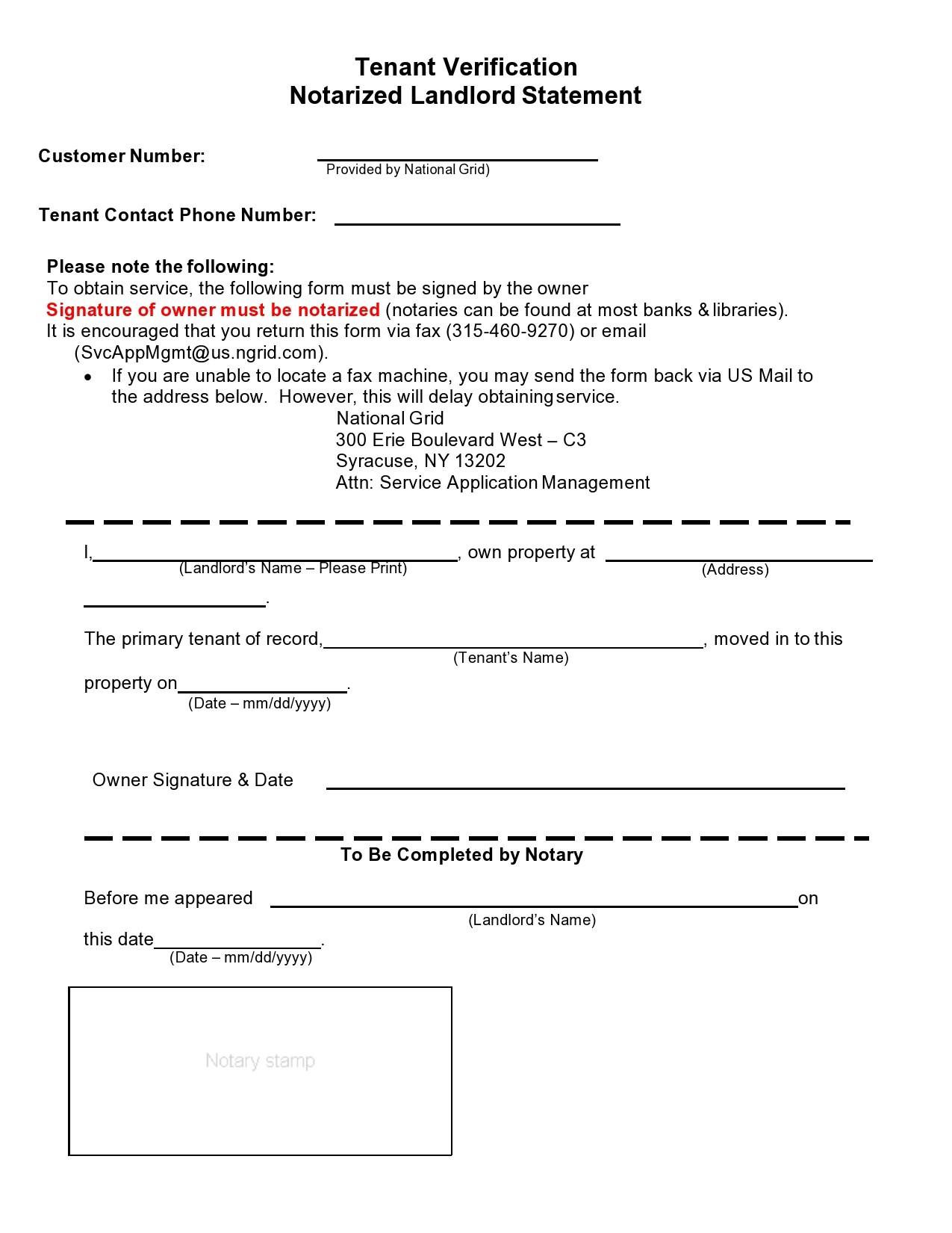 Free landlord statment 19