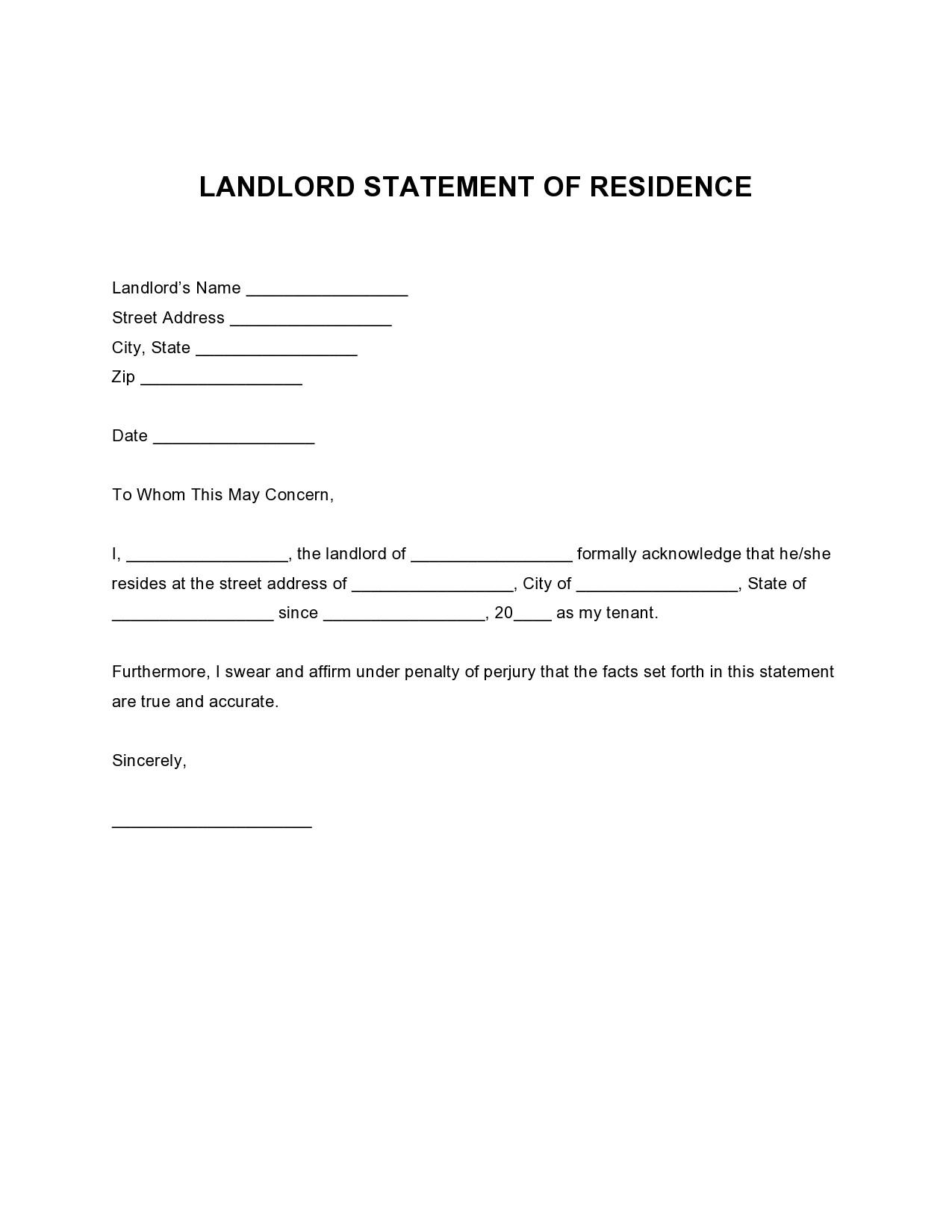 Free landlord statment 34