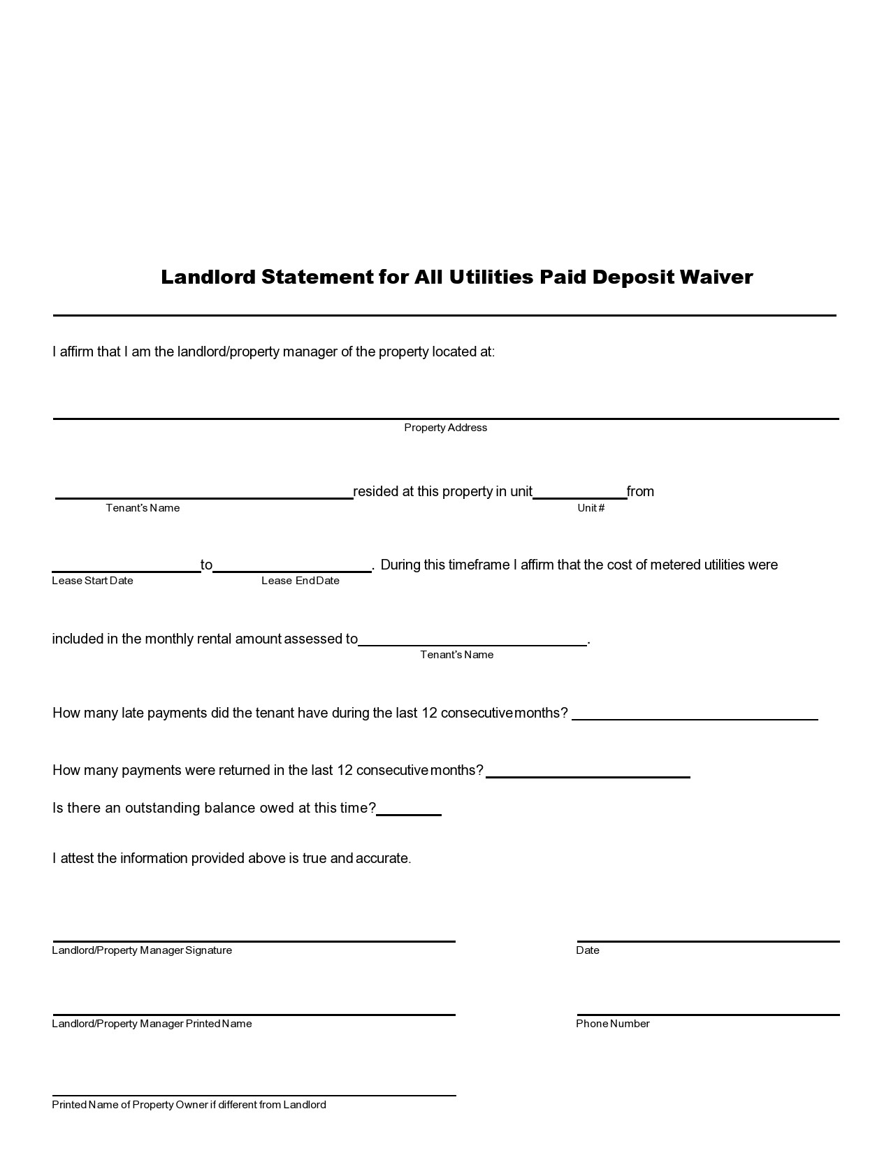 Free landlord statment 37