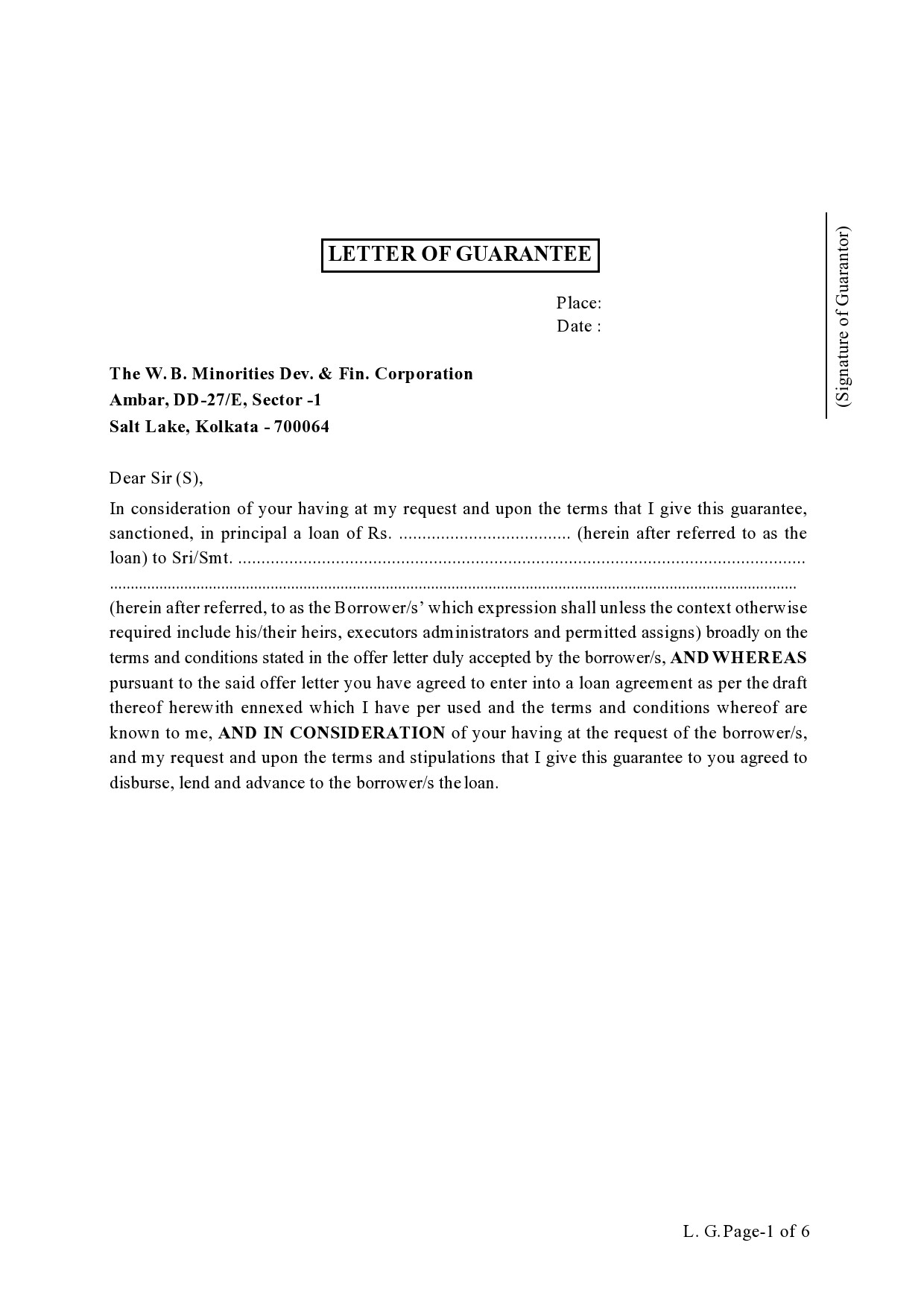 Free letter of guarantee 28