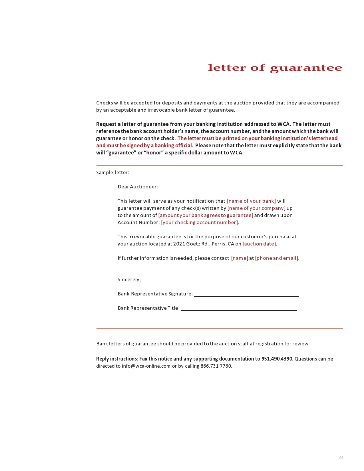 Free letter of guarantee 36