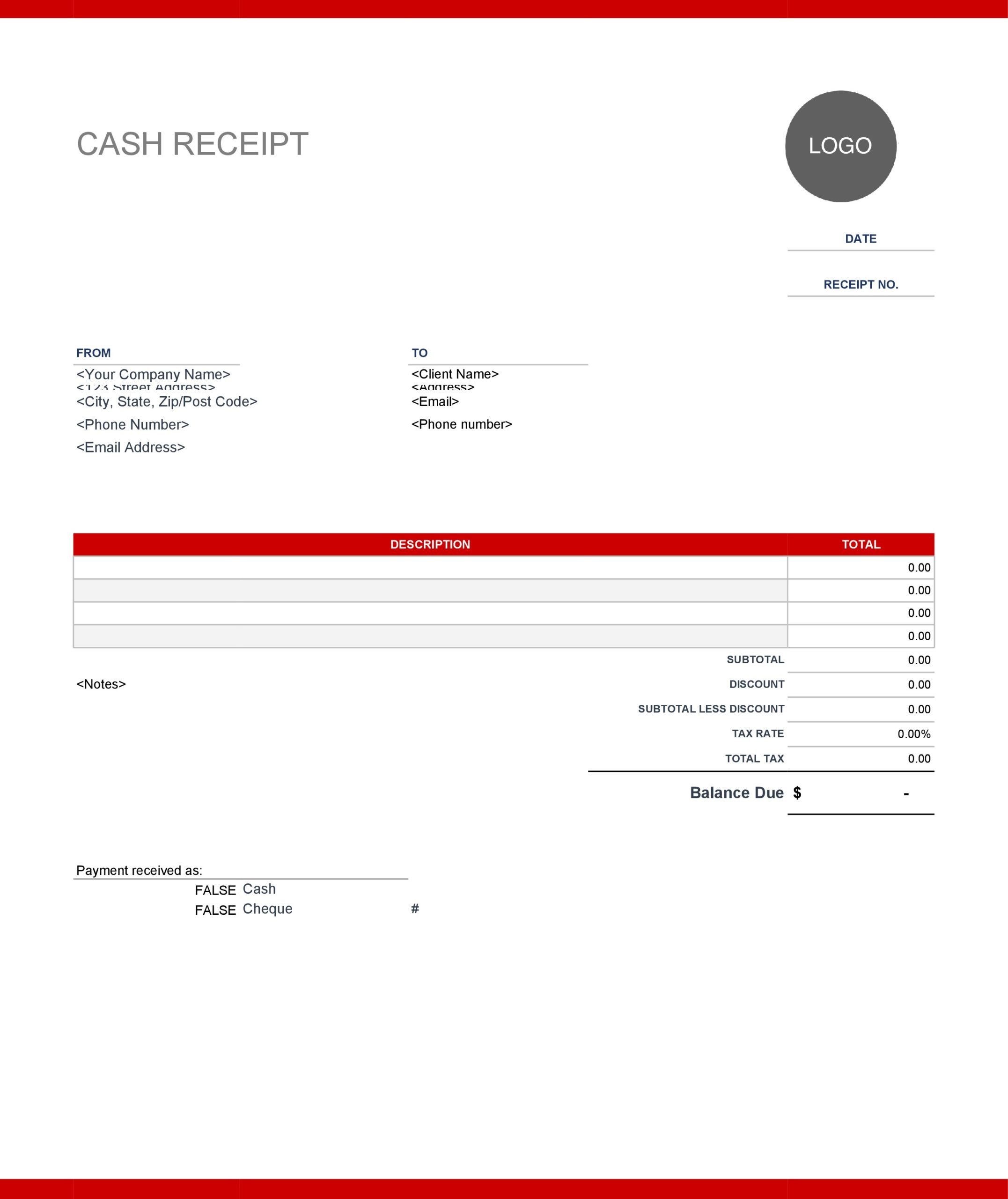 30 Editable Purchase Receipt Templates Word / Excel ᐅ TemplateLab