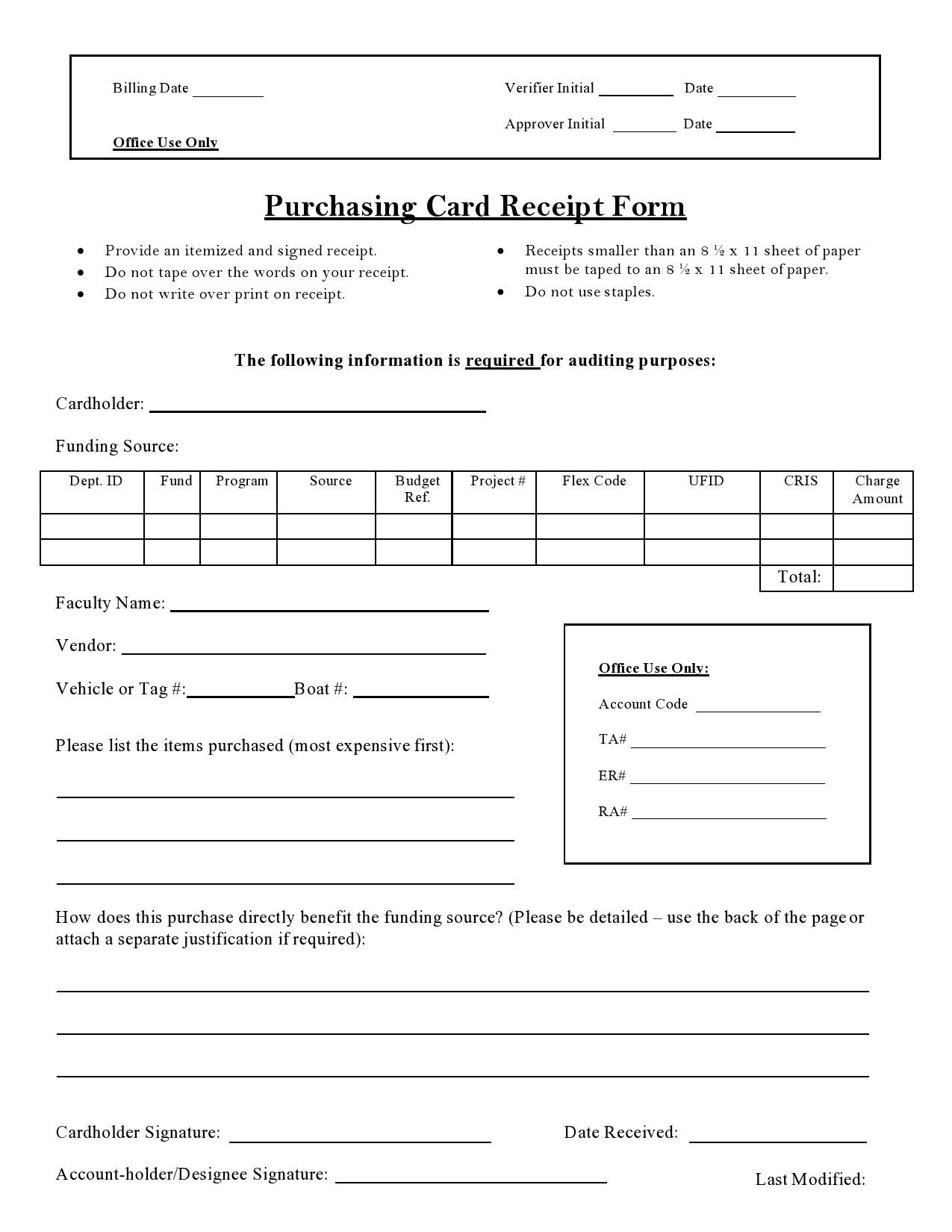 Free purchase receipt 13