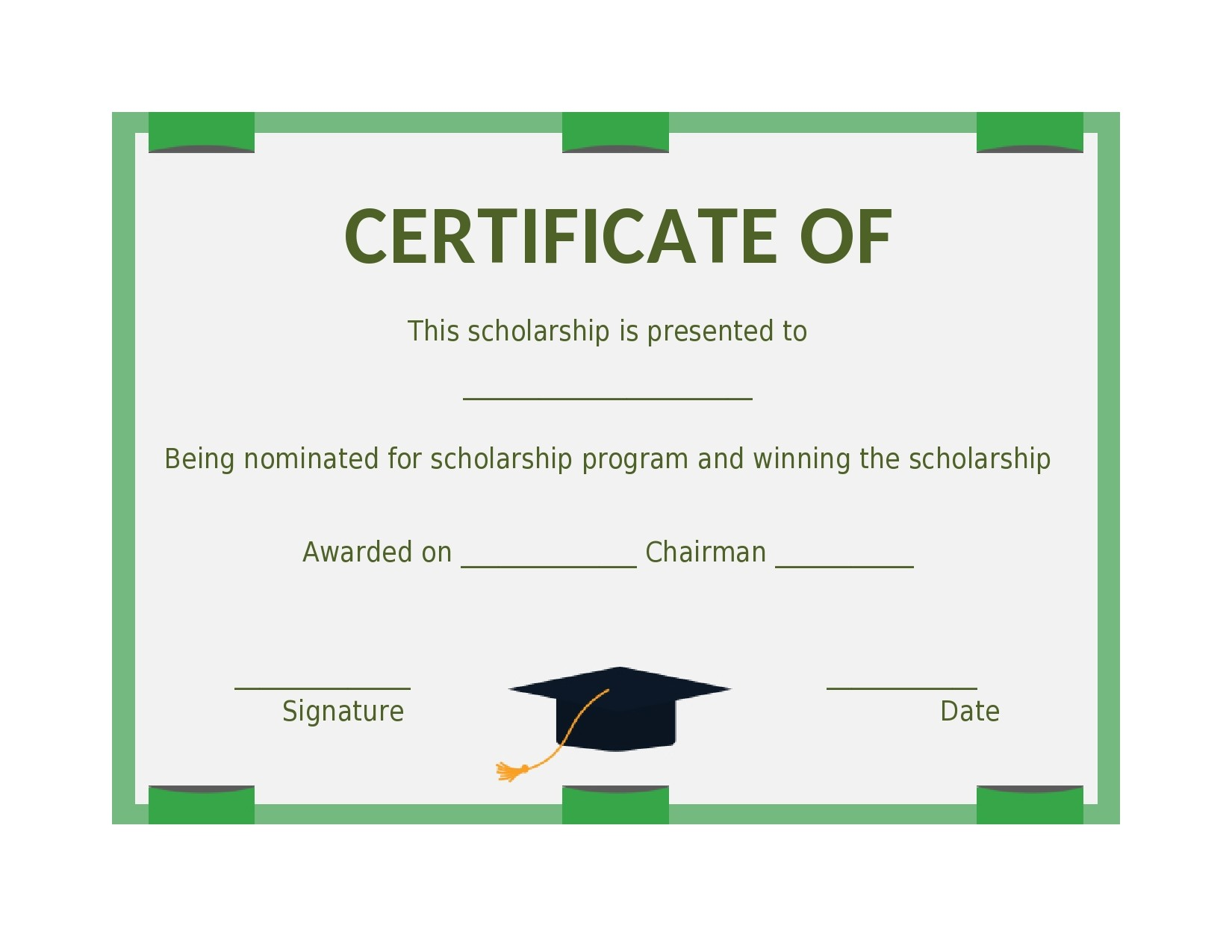 Free scholarship certificate 15