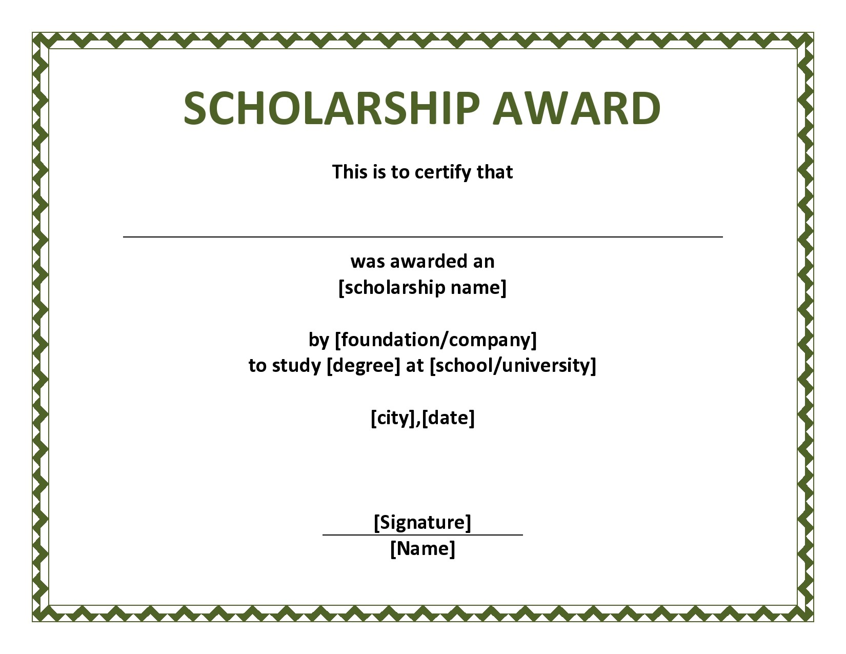 Free scholarship certificate 26