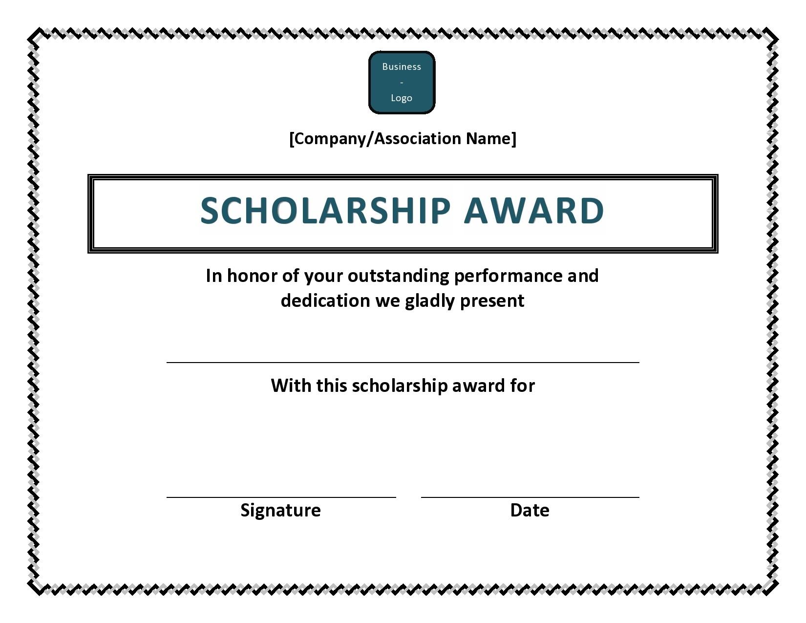 Free scholarship certificate 28