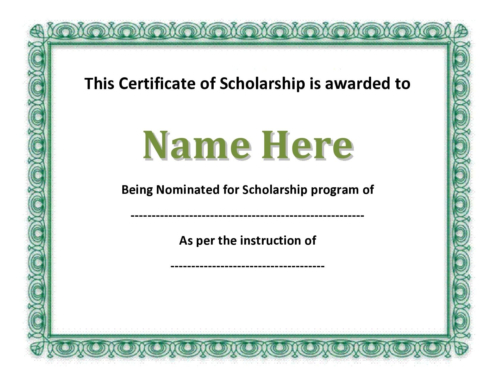 Free scholarship certificate 29