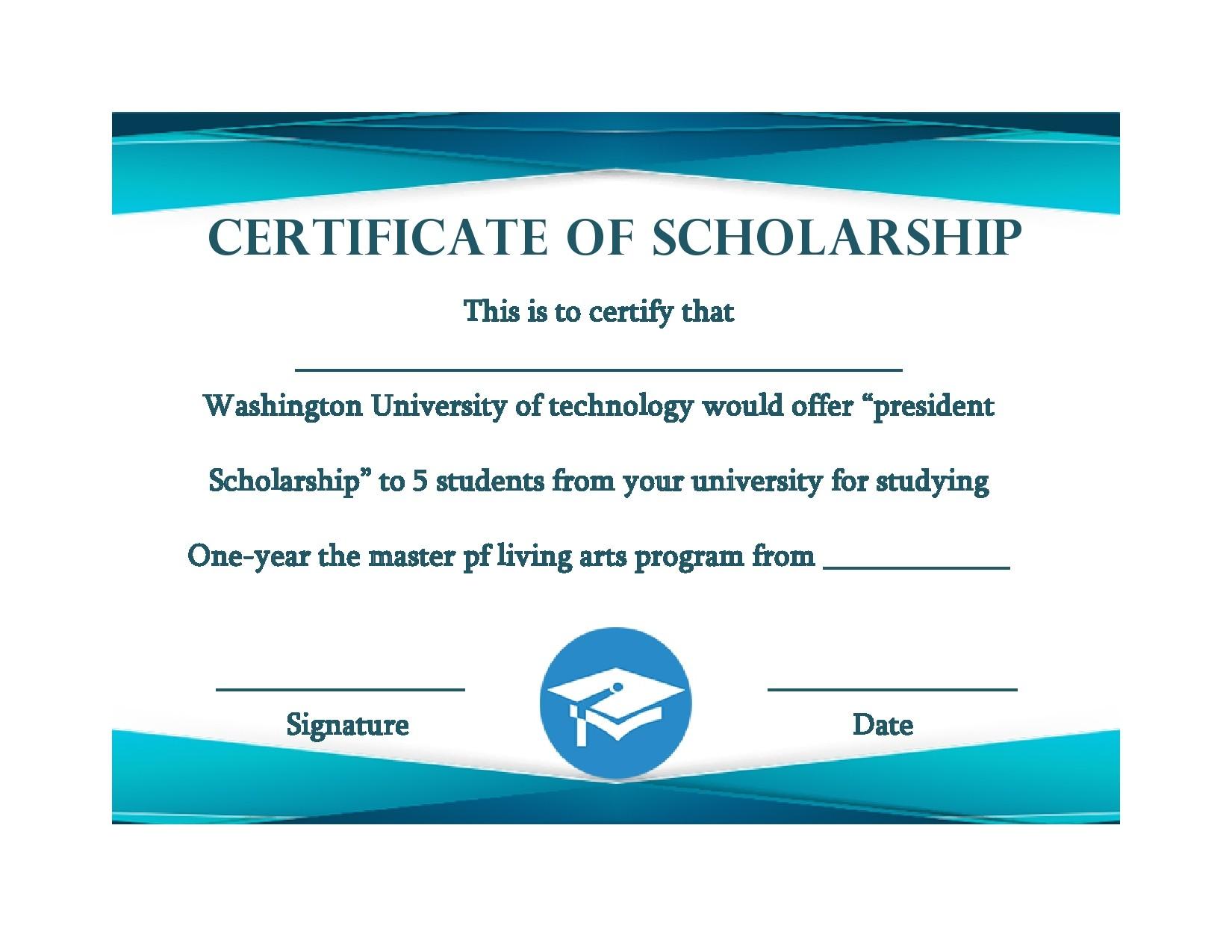 Free scholarship certificate 33