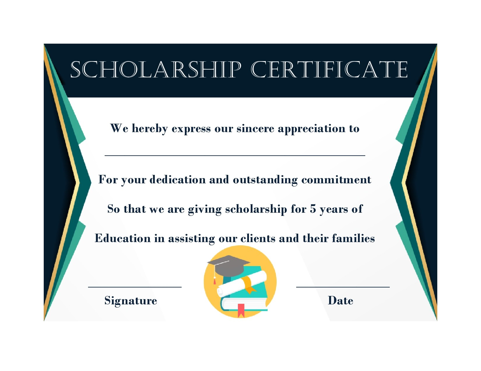 Free scholarship certificate 34
