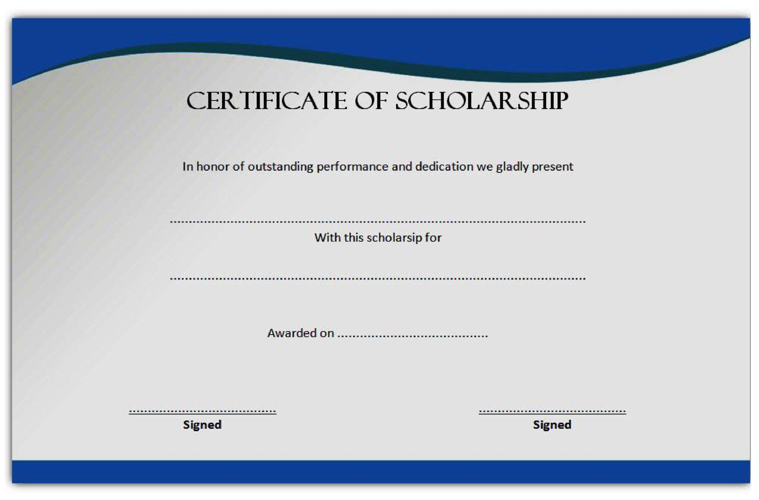 Free scholarship certificate 35