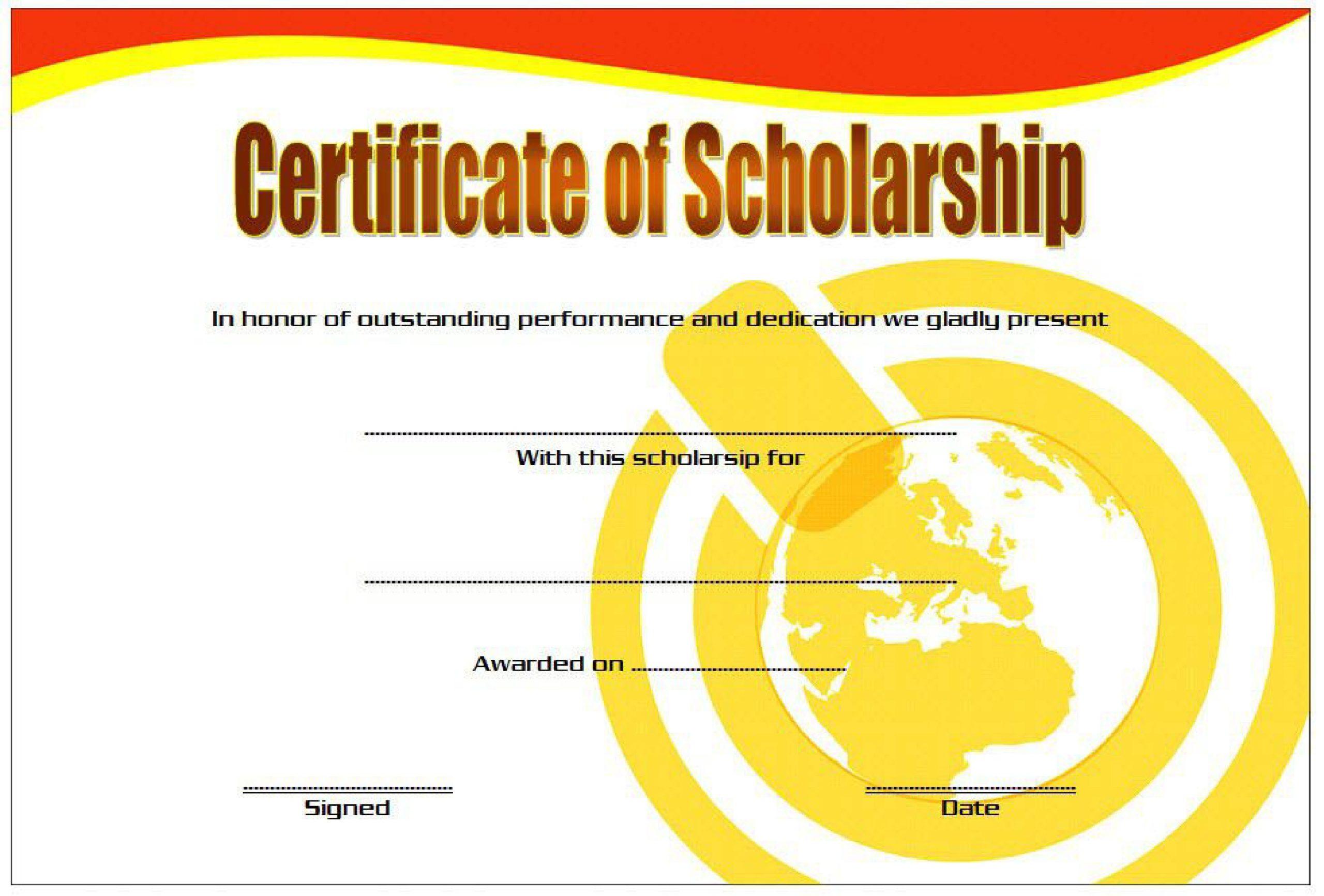 Free scholarship certificate 38