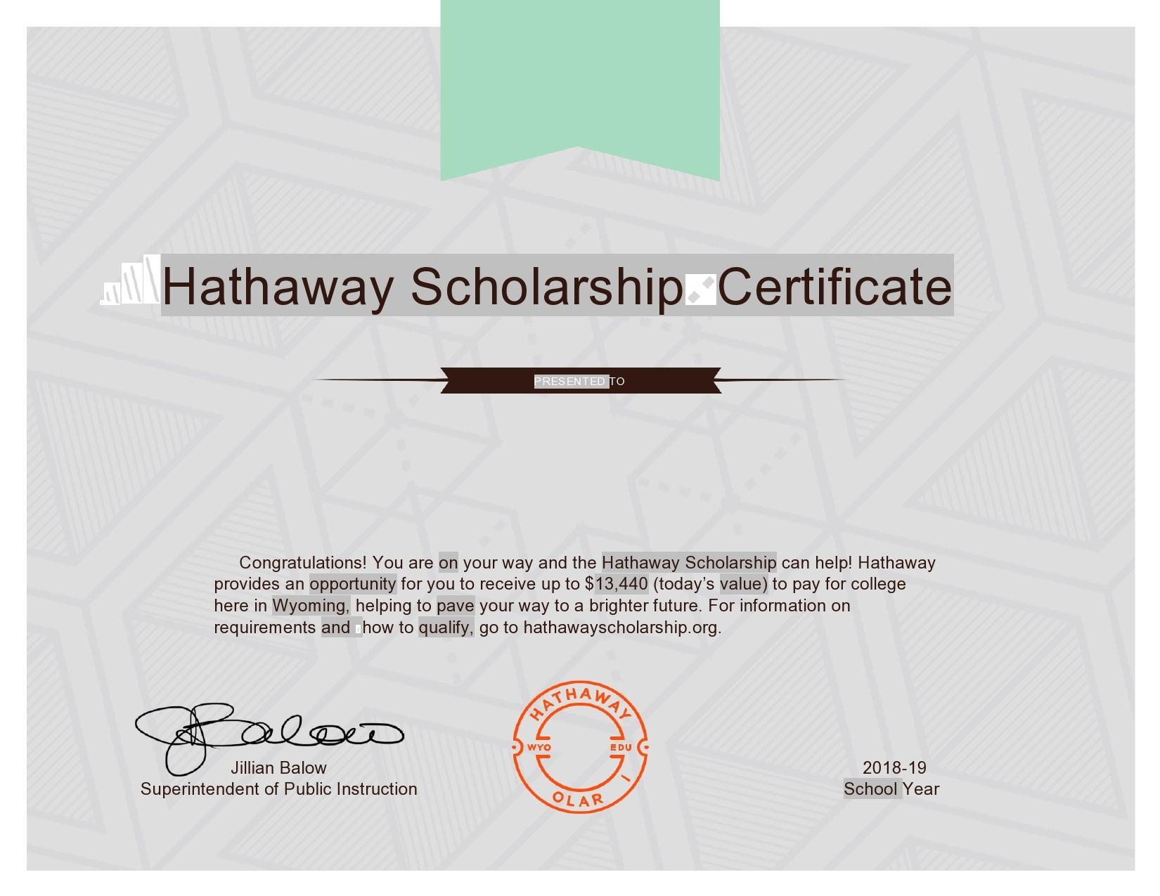 Free scholarship certificate 41