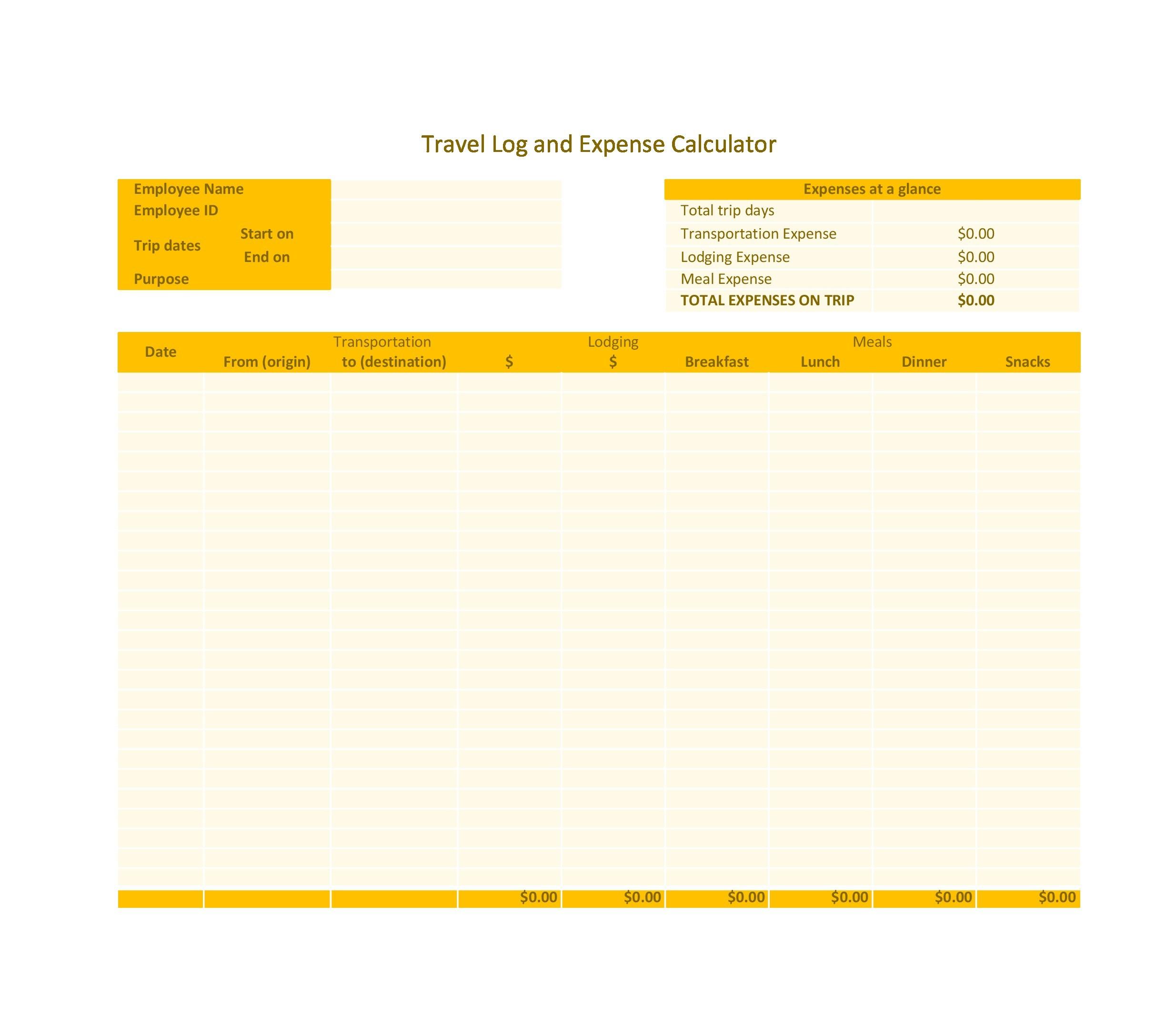 Free travel log 13