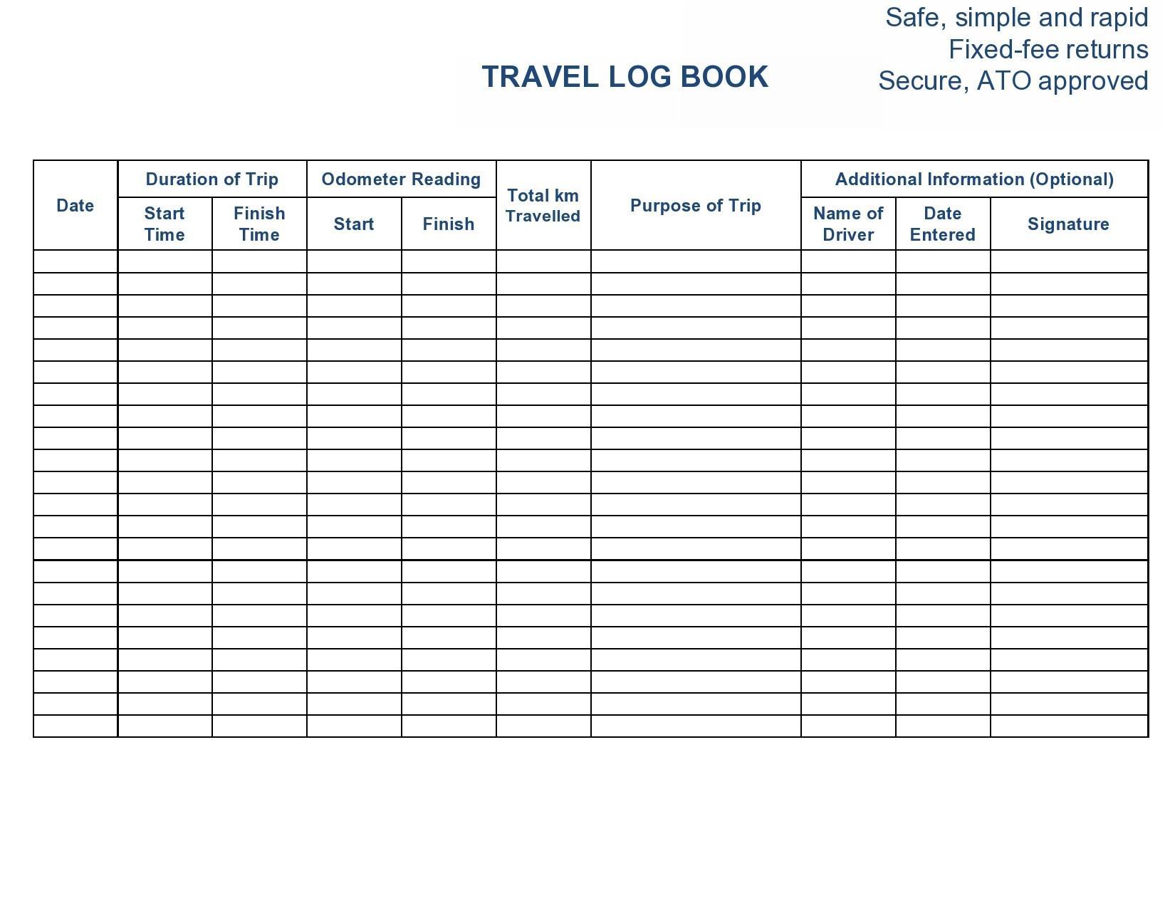 Free travel log 24