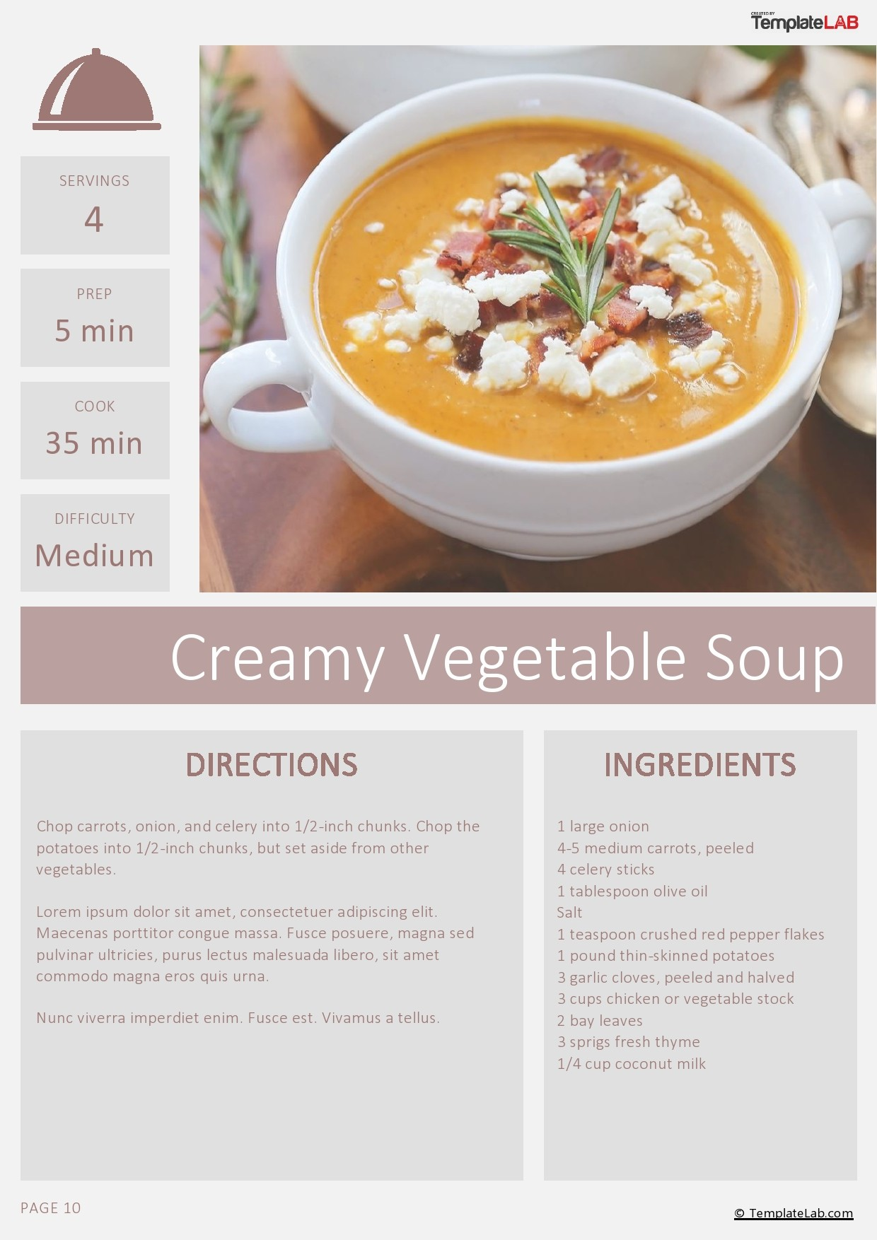 Free Cookbook Template 02 - TemplateLab.com